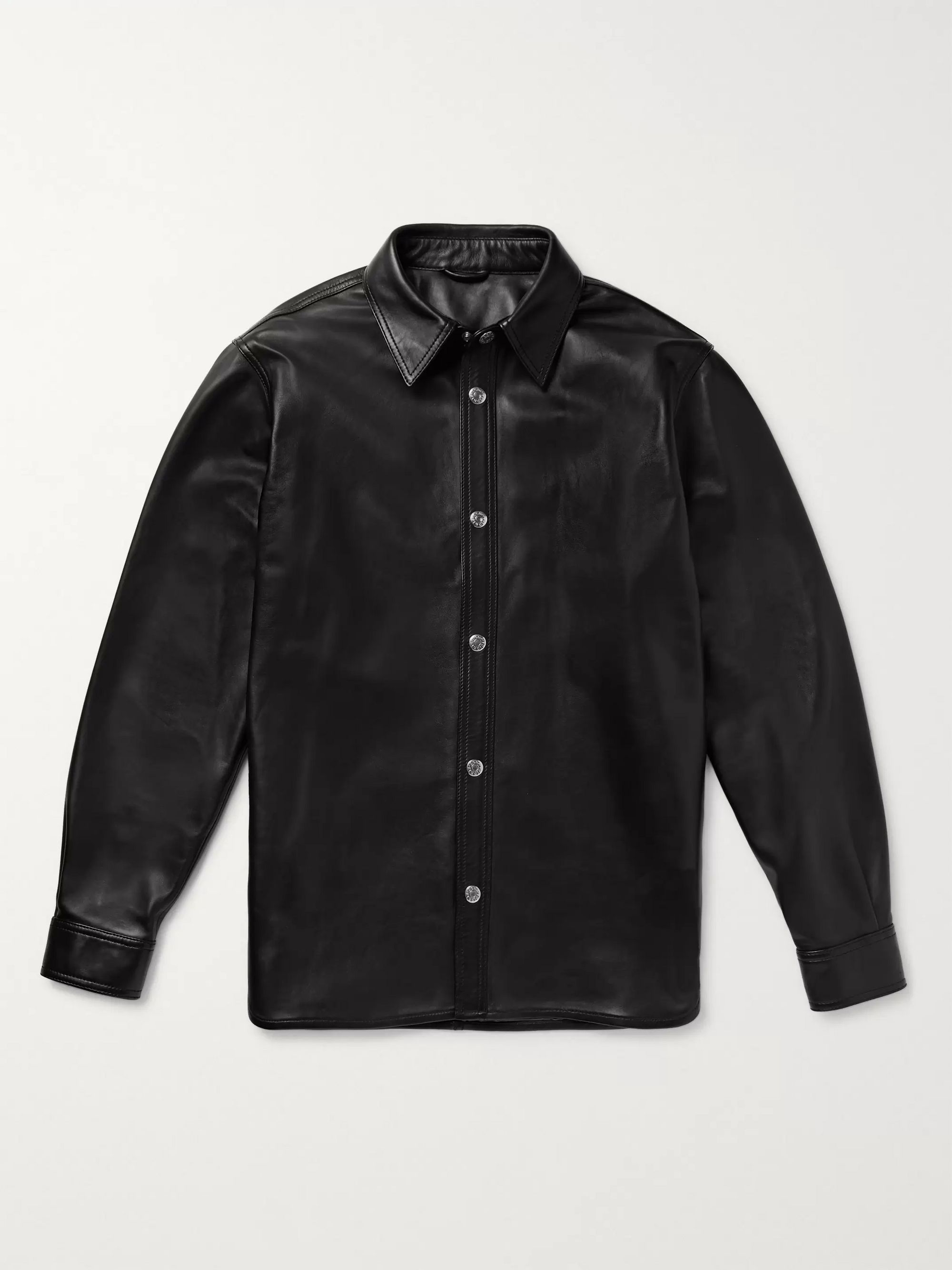 Tracey Leather Overshirt by Acne Studios
