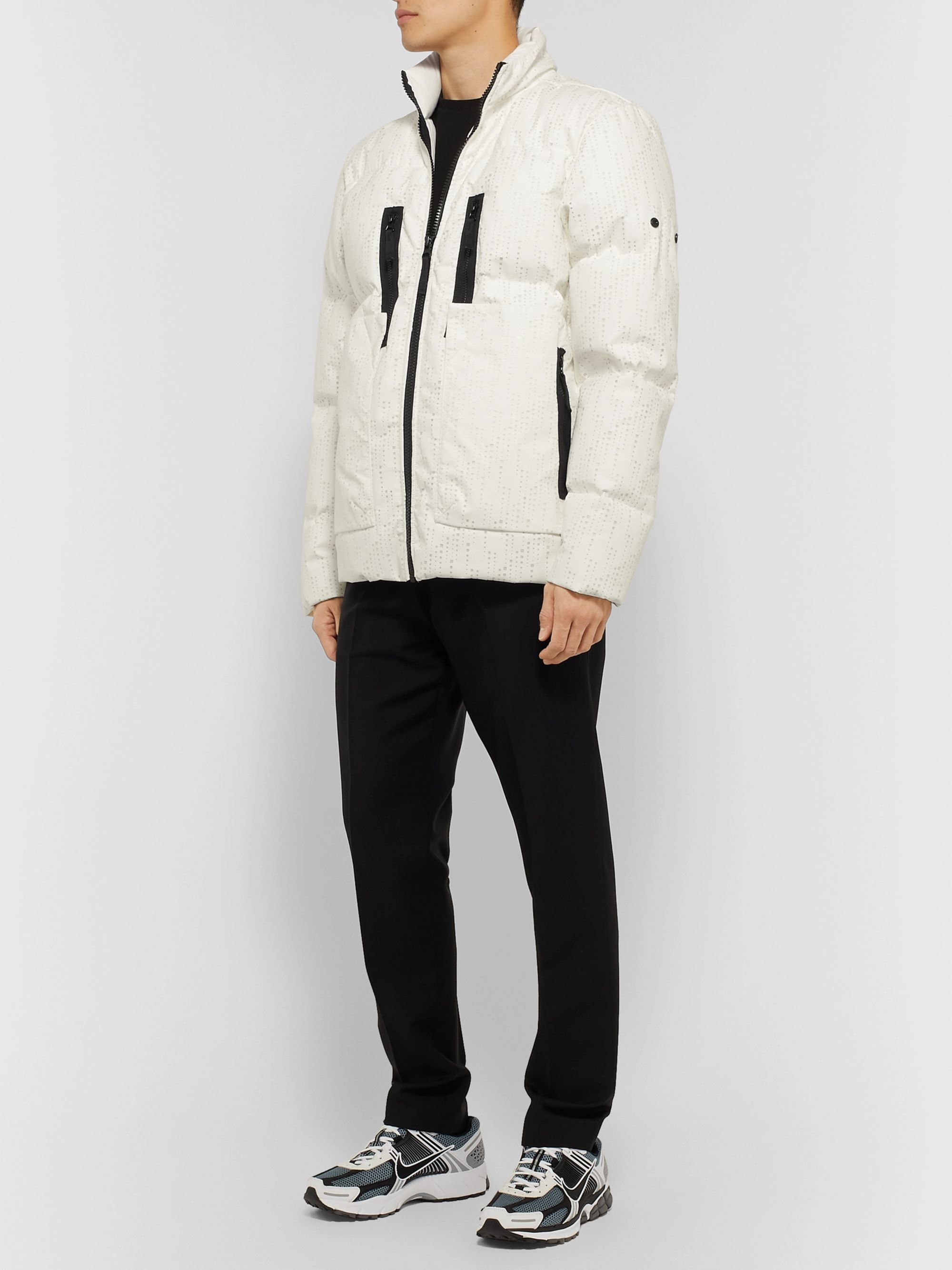 Stone Island Shadow Project Laser-Cut Quilted Shell Down Jacket