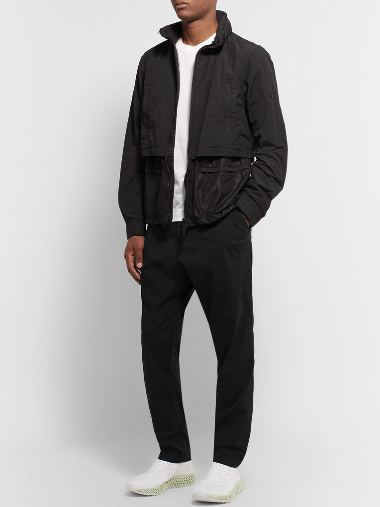Stone Island Shadow Project Black Stretch Cotton-Blend Twill Trousers