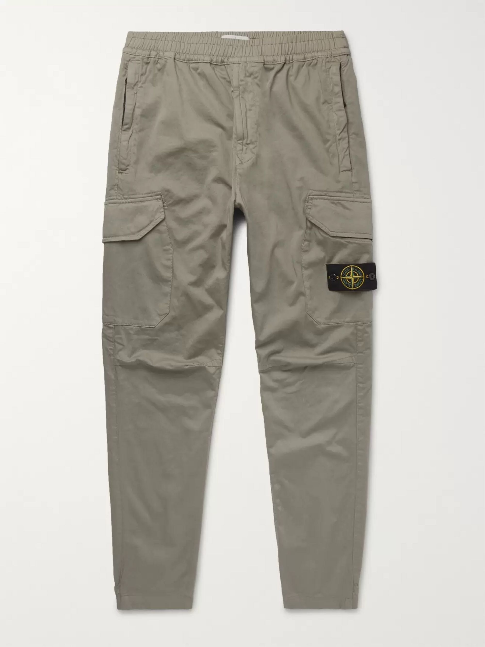 Stone Island Slim-Fit Tapered Garment-Dyed Cotton-Blend Trousers
