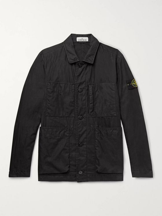 Stone Island Garment-Dyed Cotton and Nylon-Blend Jacket