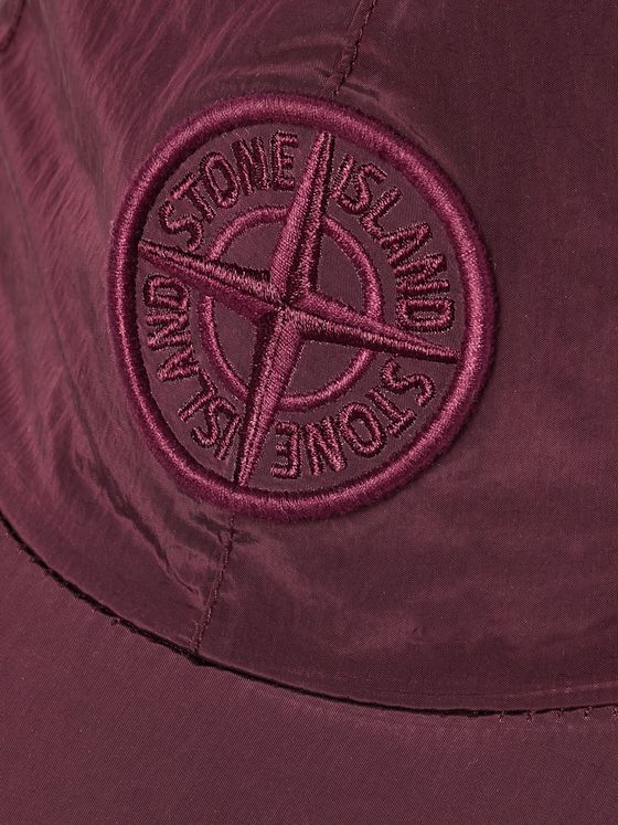 Stone Island Logo-Embroidered Nylon Metal Baseball Cap