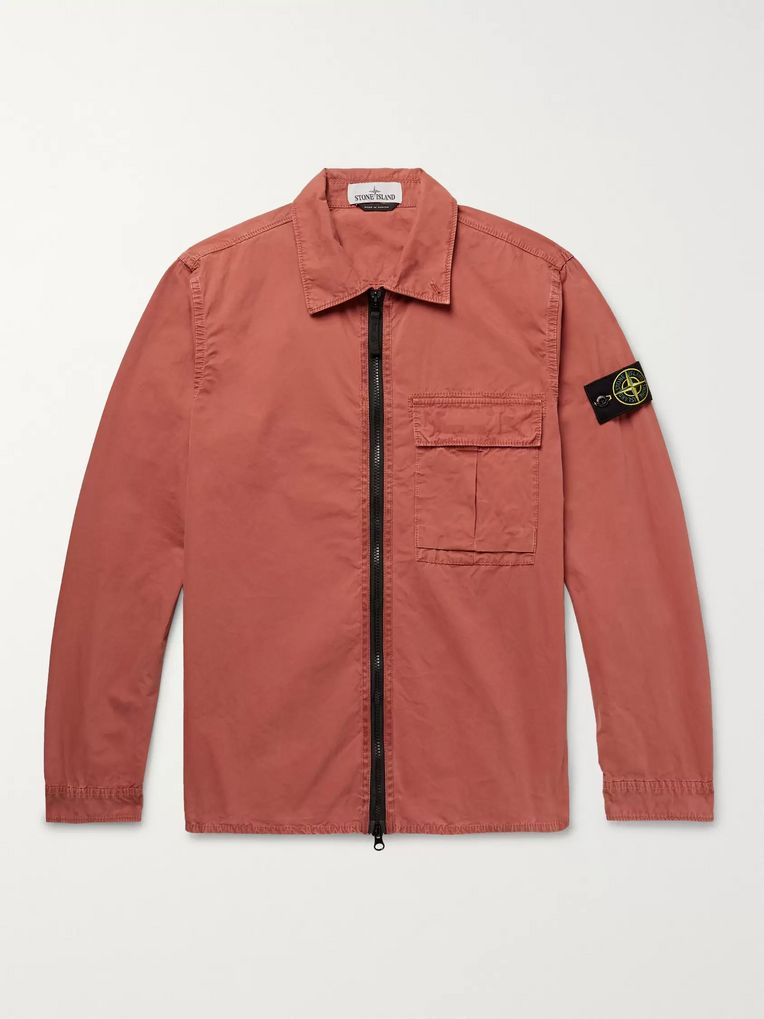 Stone Island Brushed Cotton-Gabardine Overshirt