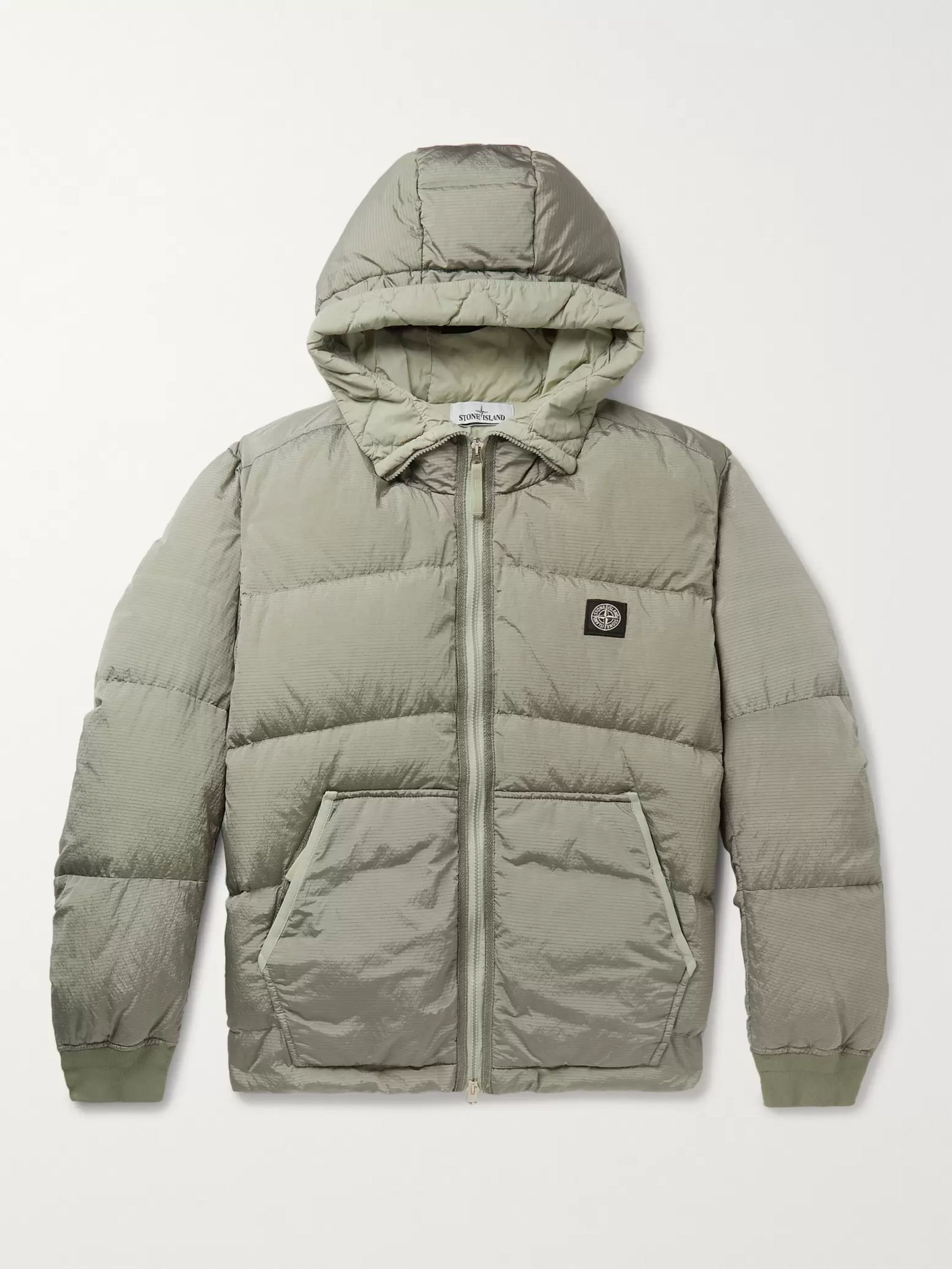 Stone Island Quilted Ripstop Hooded Down Jacket