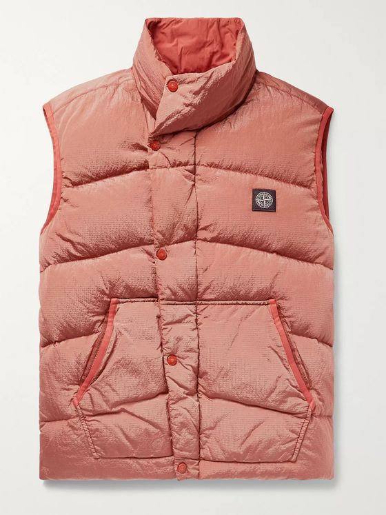 Stone Island Quilted Nylon Metal Down Gilet