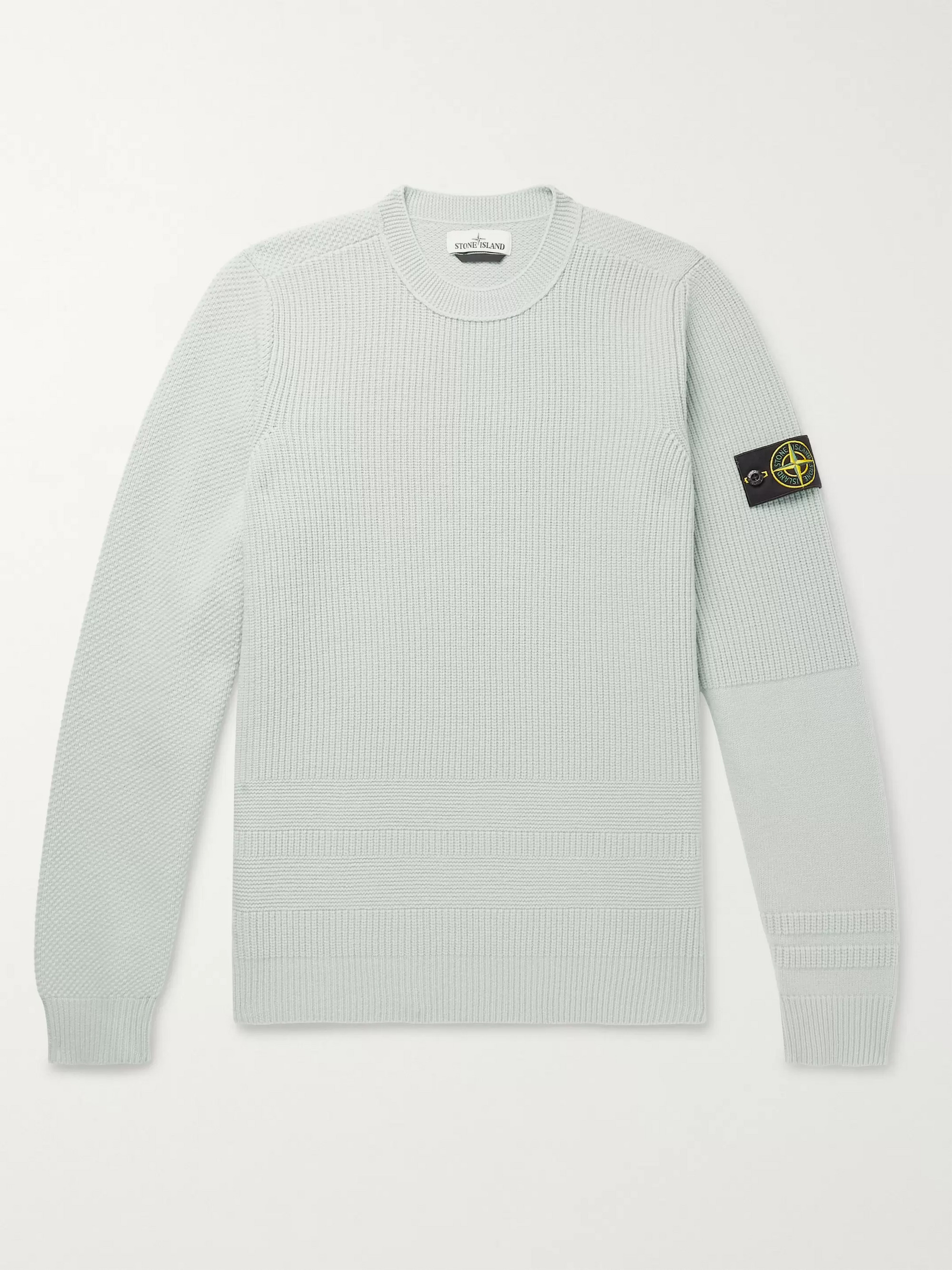83ea7c7297006c Stone Island Logo-Appliquéd Wool-Blend Sweater