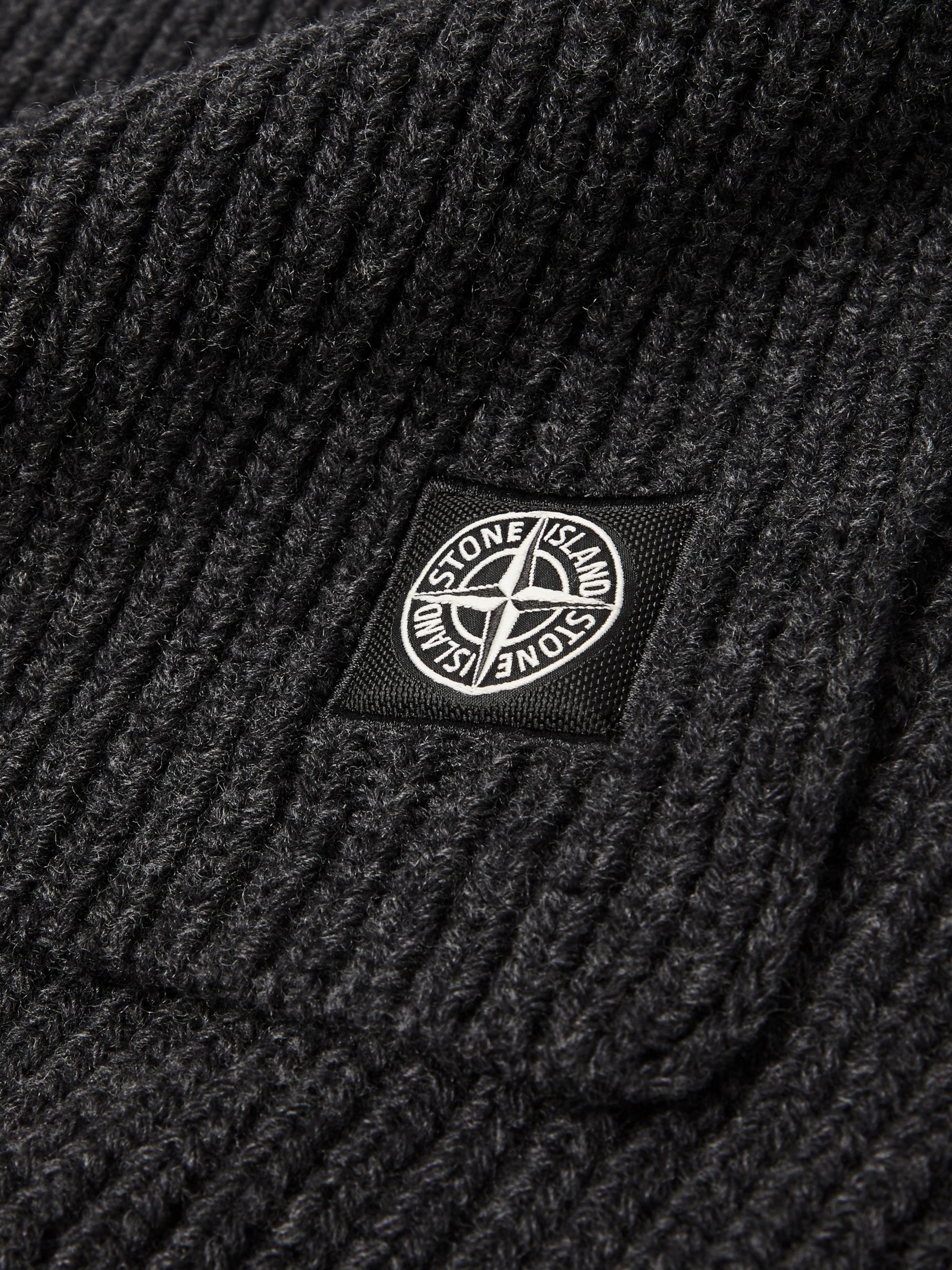 592d33c49 Logo-Appliquéd Ribbed Mélange Wool Scarf