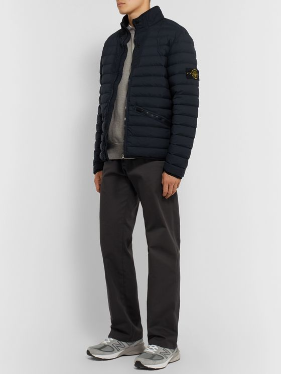 Stone Island Garment-Dyed Nylon Down Jacket