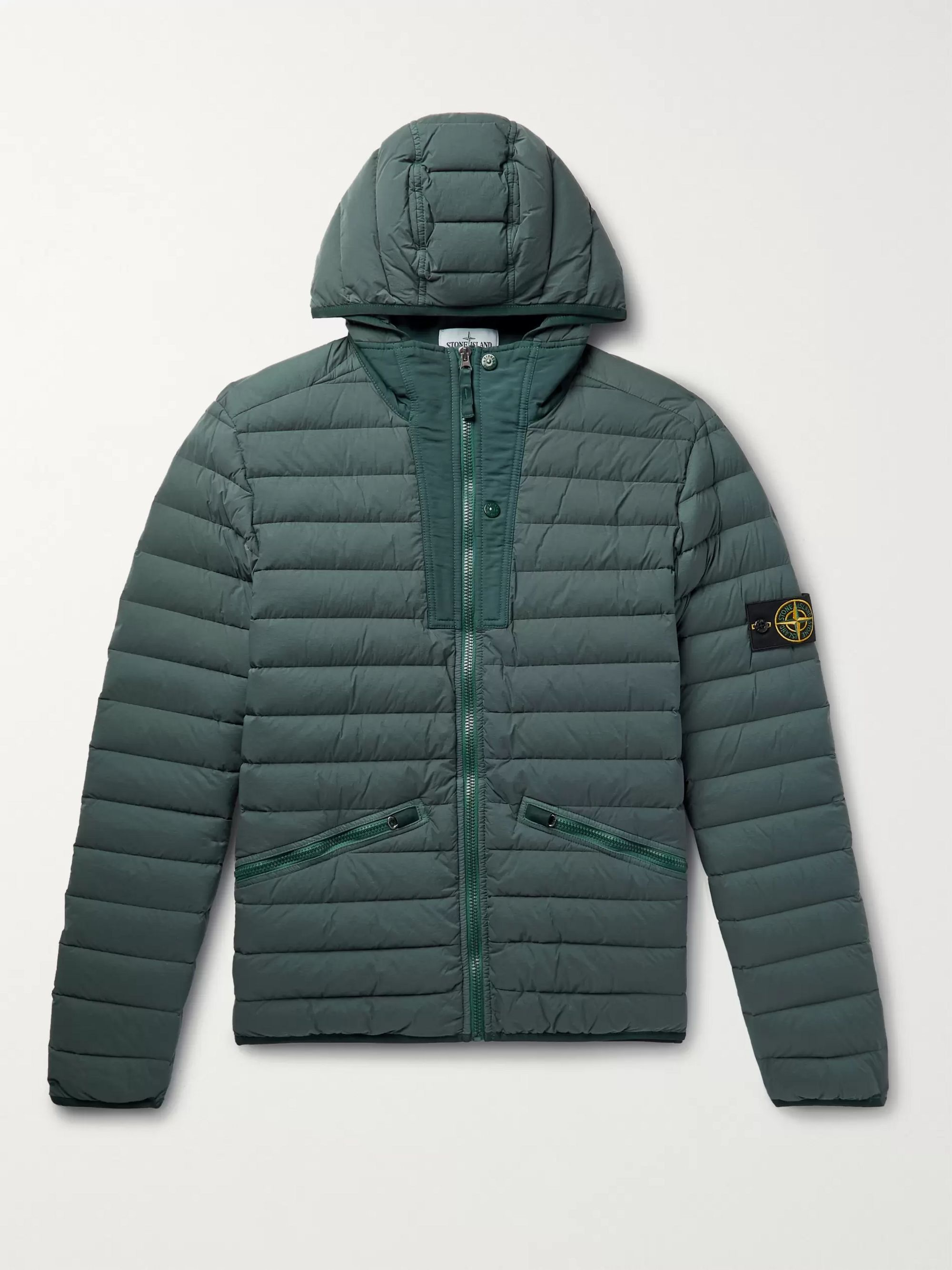 49c7df202 Slim-Fit Quilted Nylon Hooded Down Jacket