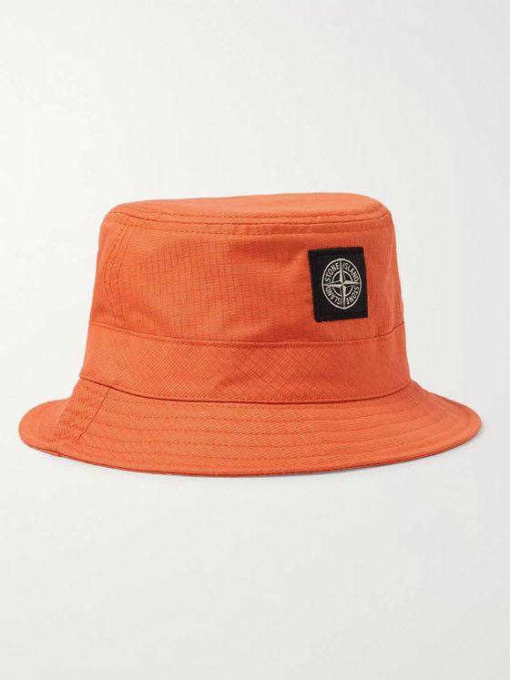 Stone Island Reflective Cotton-Blend Bucket Hat
