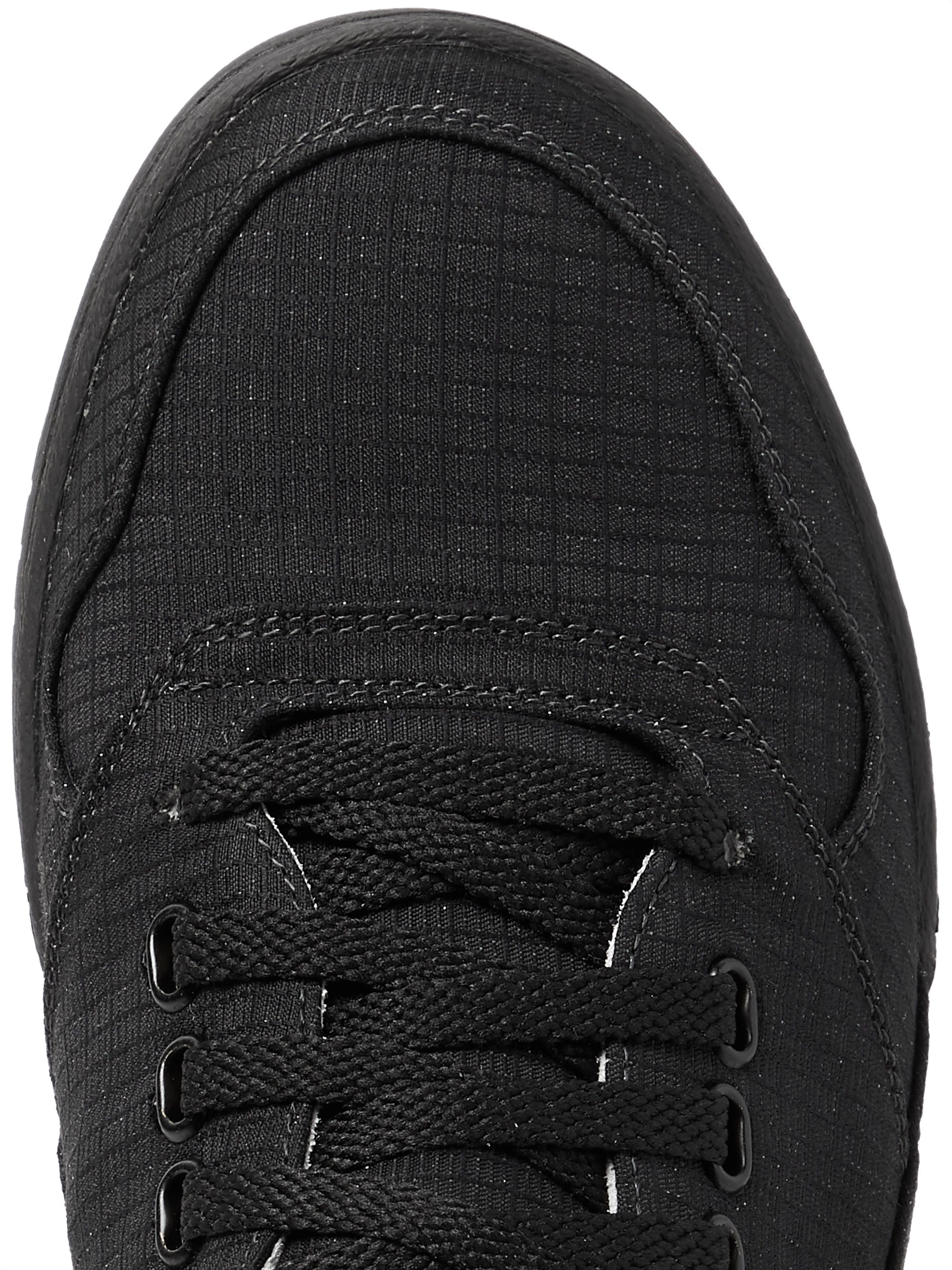 Stone Island + Diemme Reflective Leather-Trimmed Ripstop Sneakers