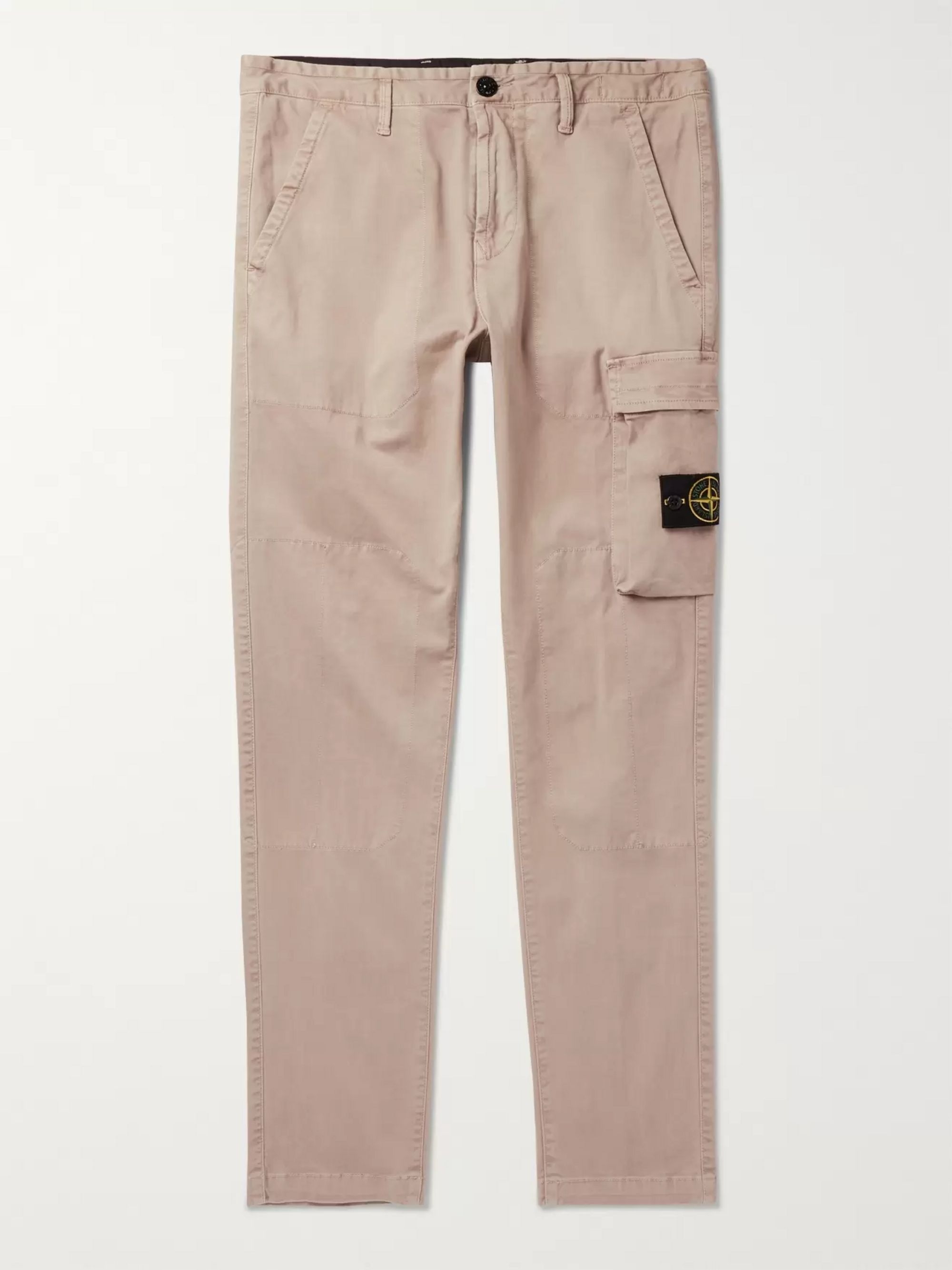 Stone Island Slim-Fit Tapered Cotton-Blend Cargo Trousers