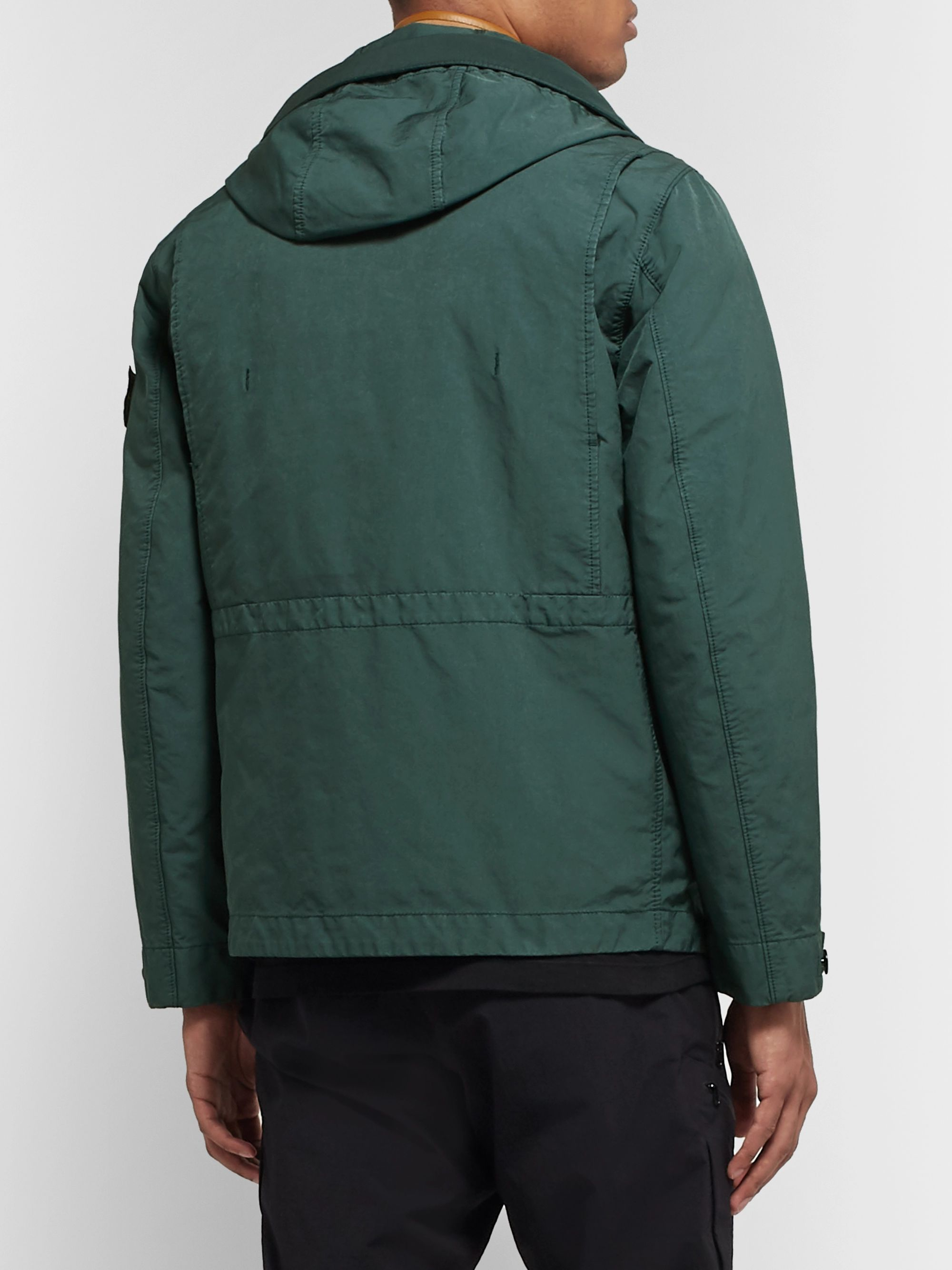 Stone Island Garment-Dyed David-TC Hooded Down Jacket