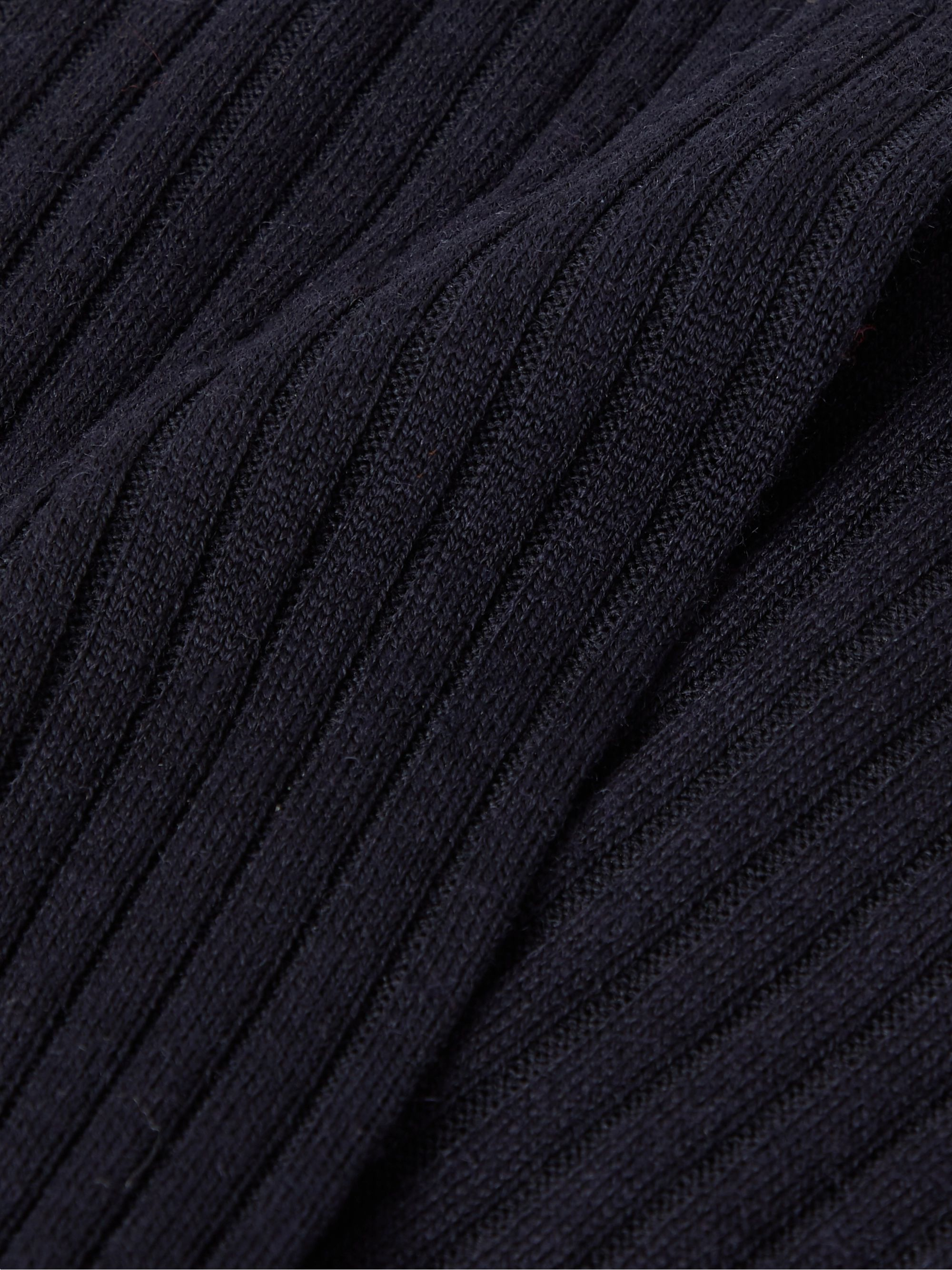 Pantherella Rutherford Ribbed Super 120s Merino Wool-Blend Socks