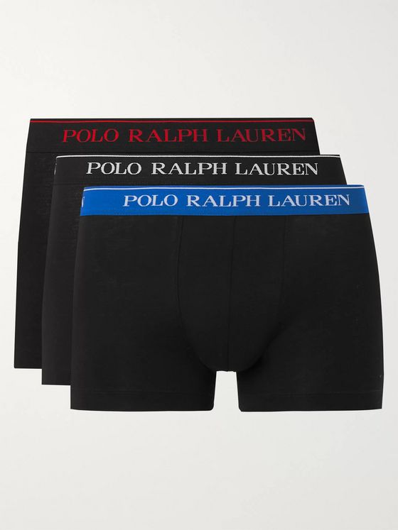 Polo Ralph Lauren Three-Pack Stretch-Cotton Boxer Briefs
