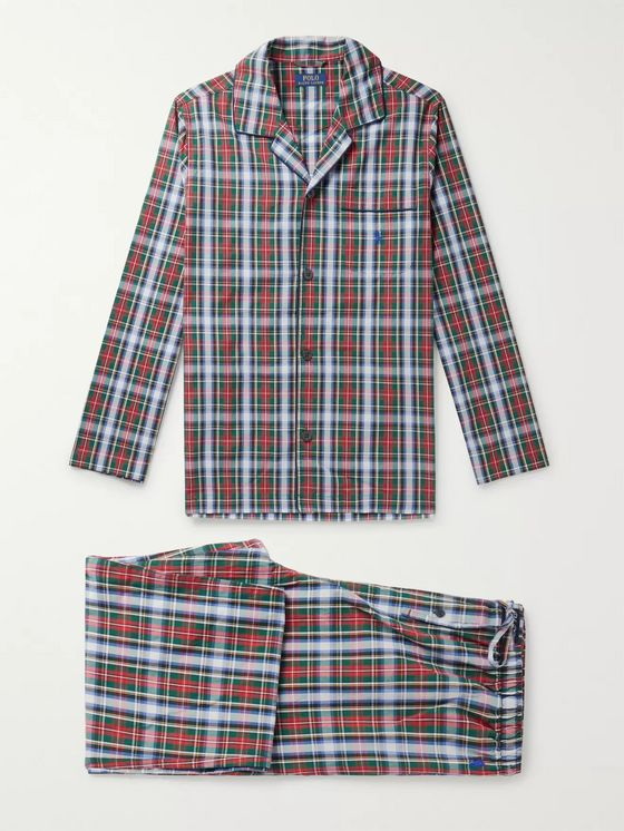 Polo Ralph Lauren Checked Cotton-Poplin Pyjama Set
