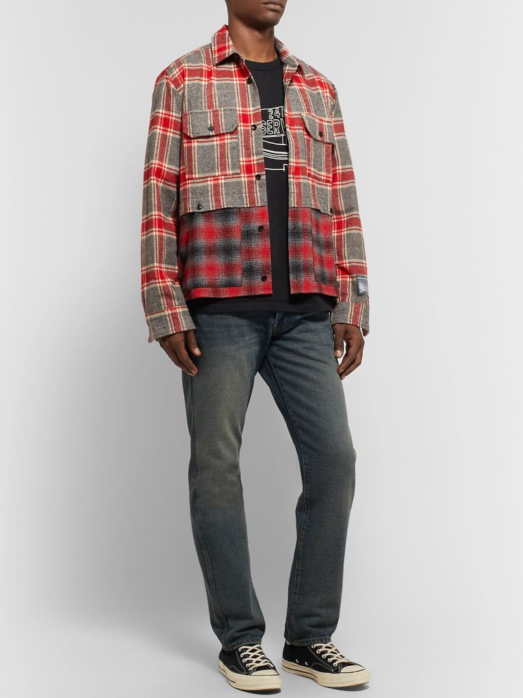 Reese Cooper® Patchwork Cotton-Flannel Shirt