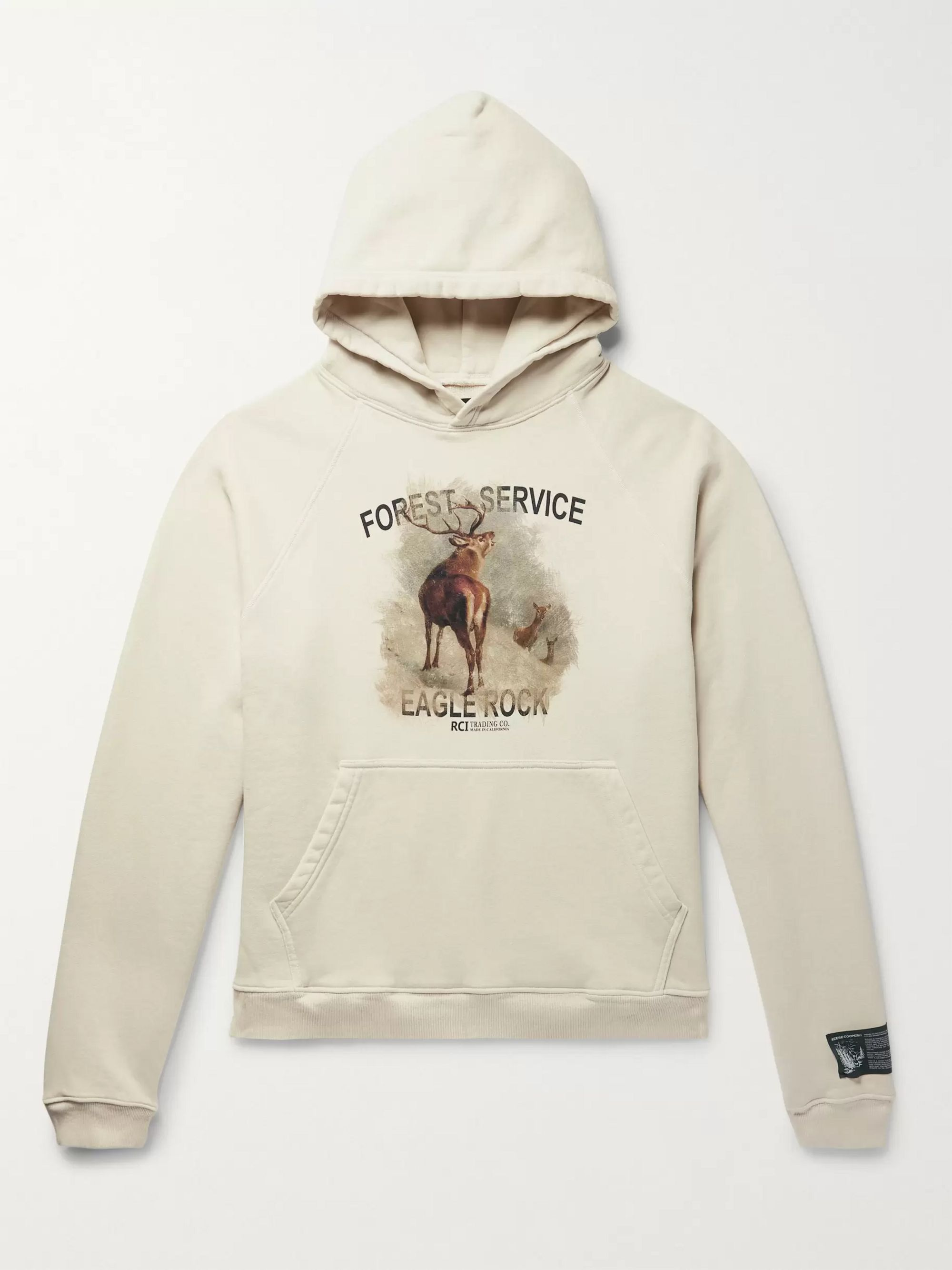 Printed Loopback Cotton Jersey Hoodie by Reese Cooper®