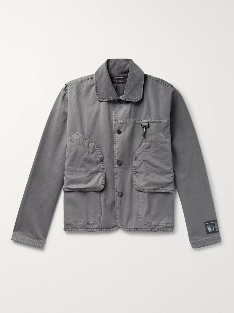 Reese Cooper® Corduroy-Trimmed Cotton-Twill Jacket