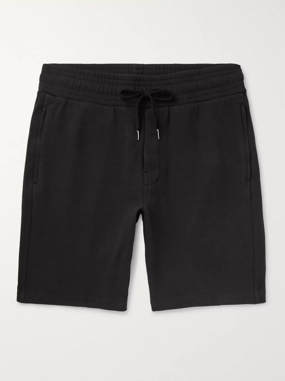Frescobol Carioca Loopback Cotton-Blend Jersey Drawstring Shorts