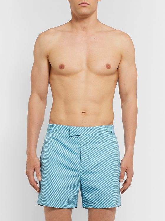 Frescobol Carioca Pepe Slim-Fit Mid-Length Printed Swim Shorts