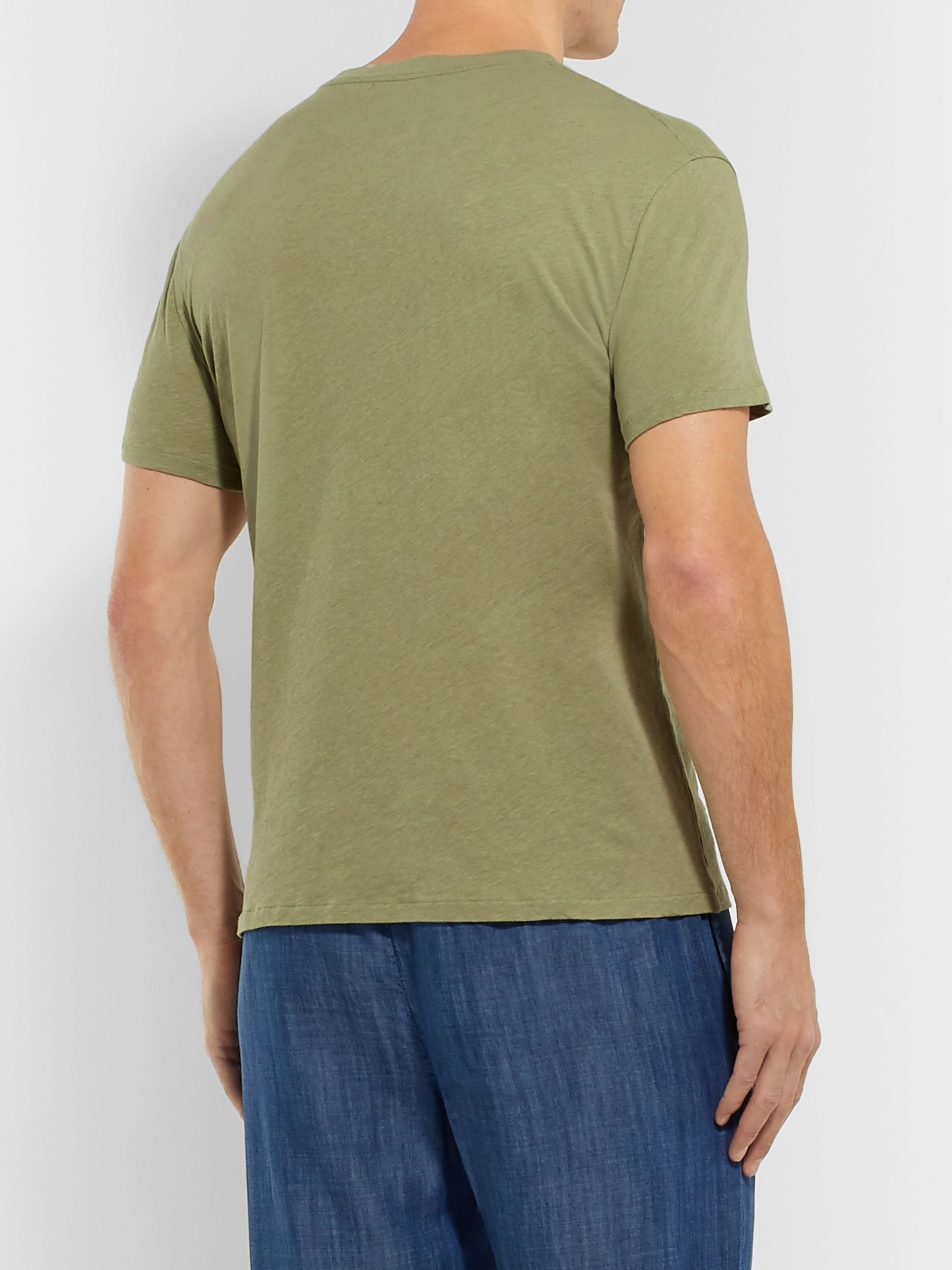 Frescobol Carioca Mazola Slub Cotton and Linen-Blend Jersey T-Shirt