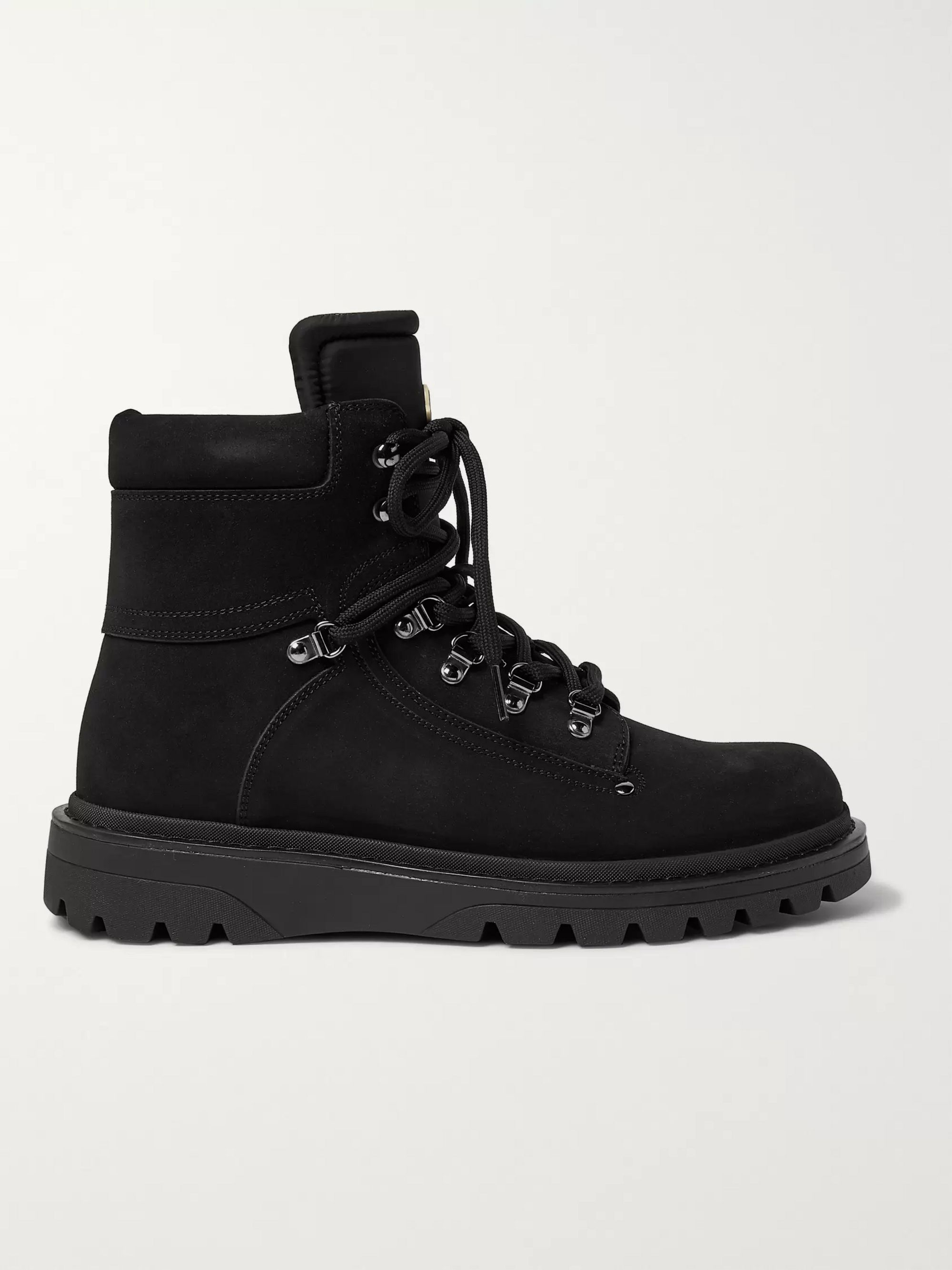 Moncler Egide Suede and Nylon Boots