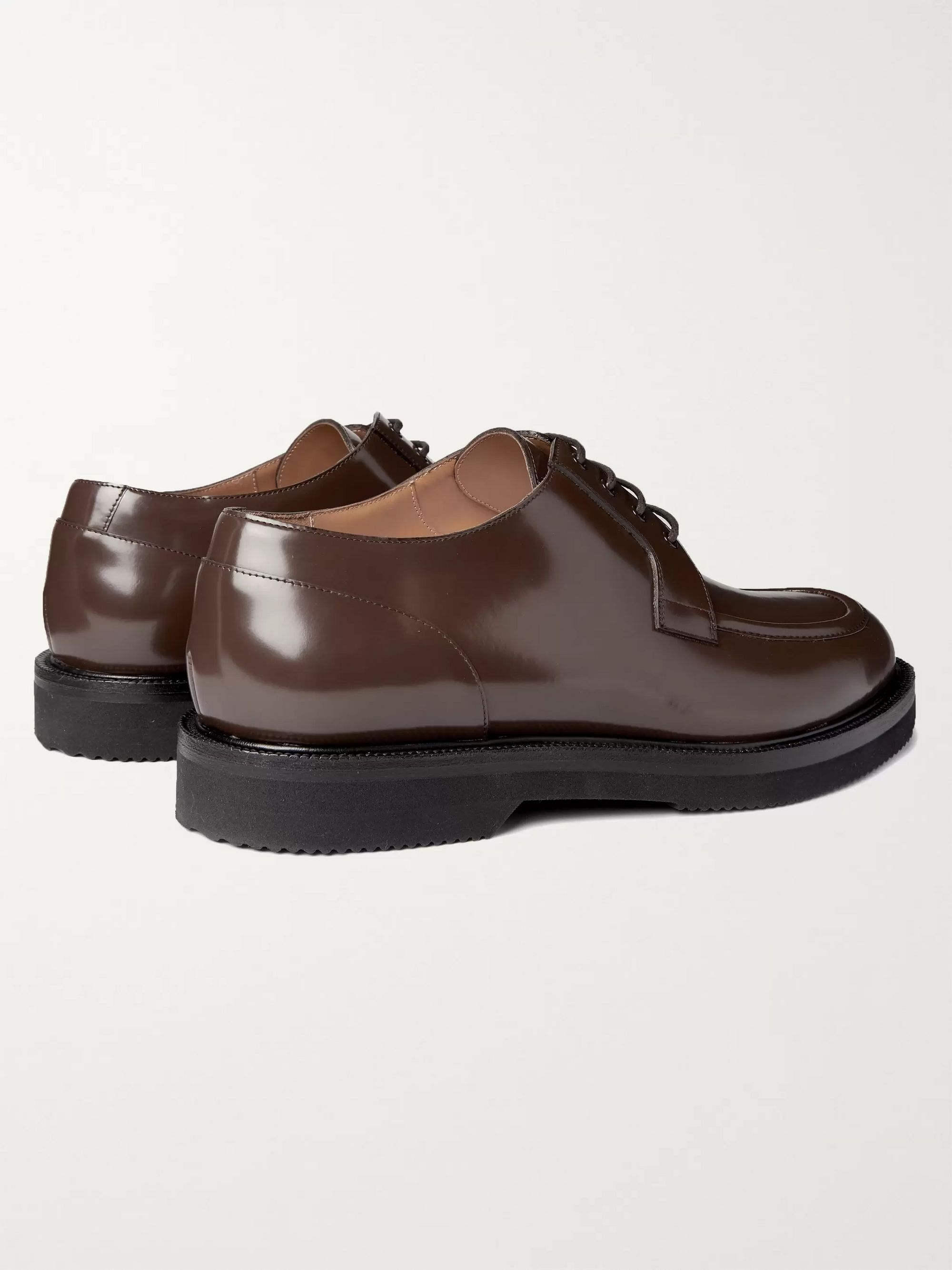 Dries Van Noten Polished-Leather Derby Shoes
