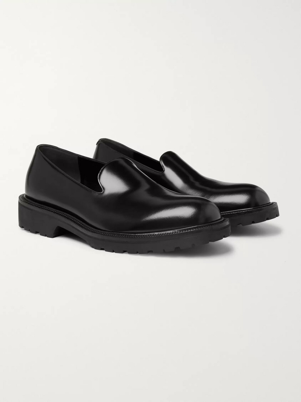Dries Van Noten Polished-Leather Loafers