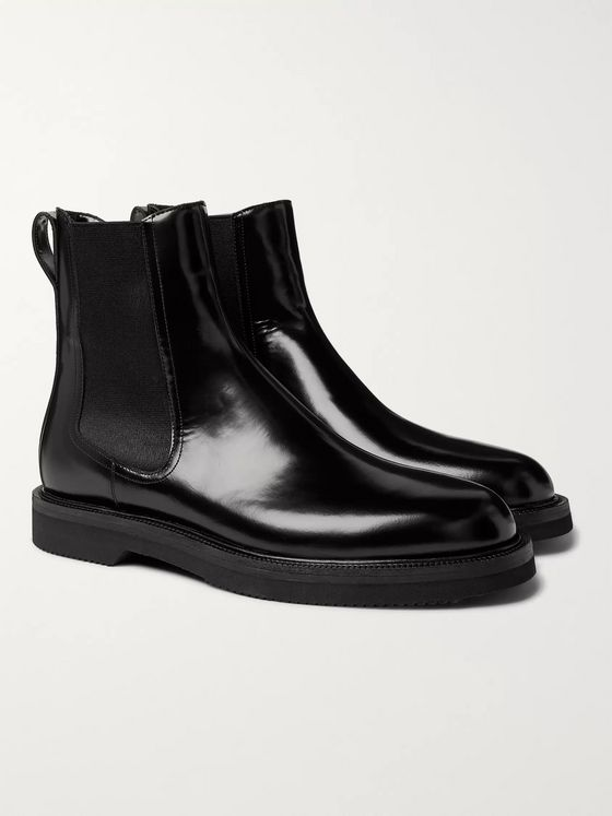 Dries Van Noten Polished-Leather Chelsea Boots