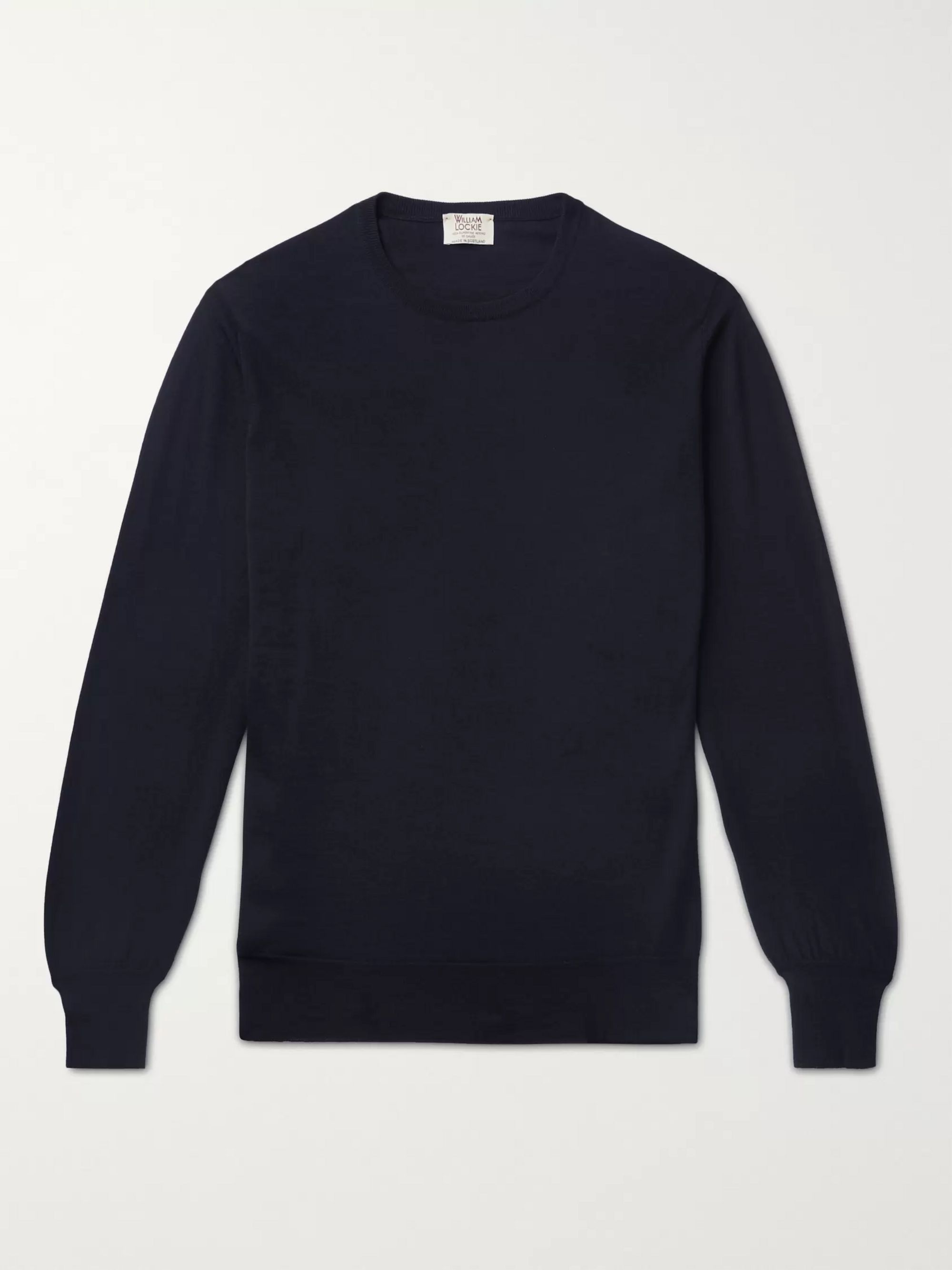 Slim Fit Cashmere Sweater by William Lockie