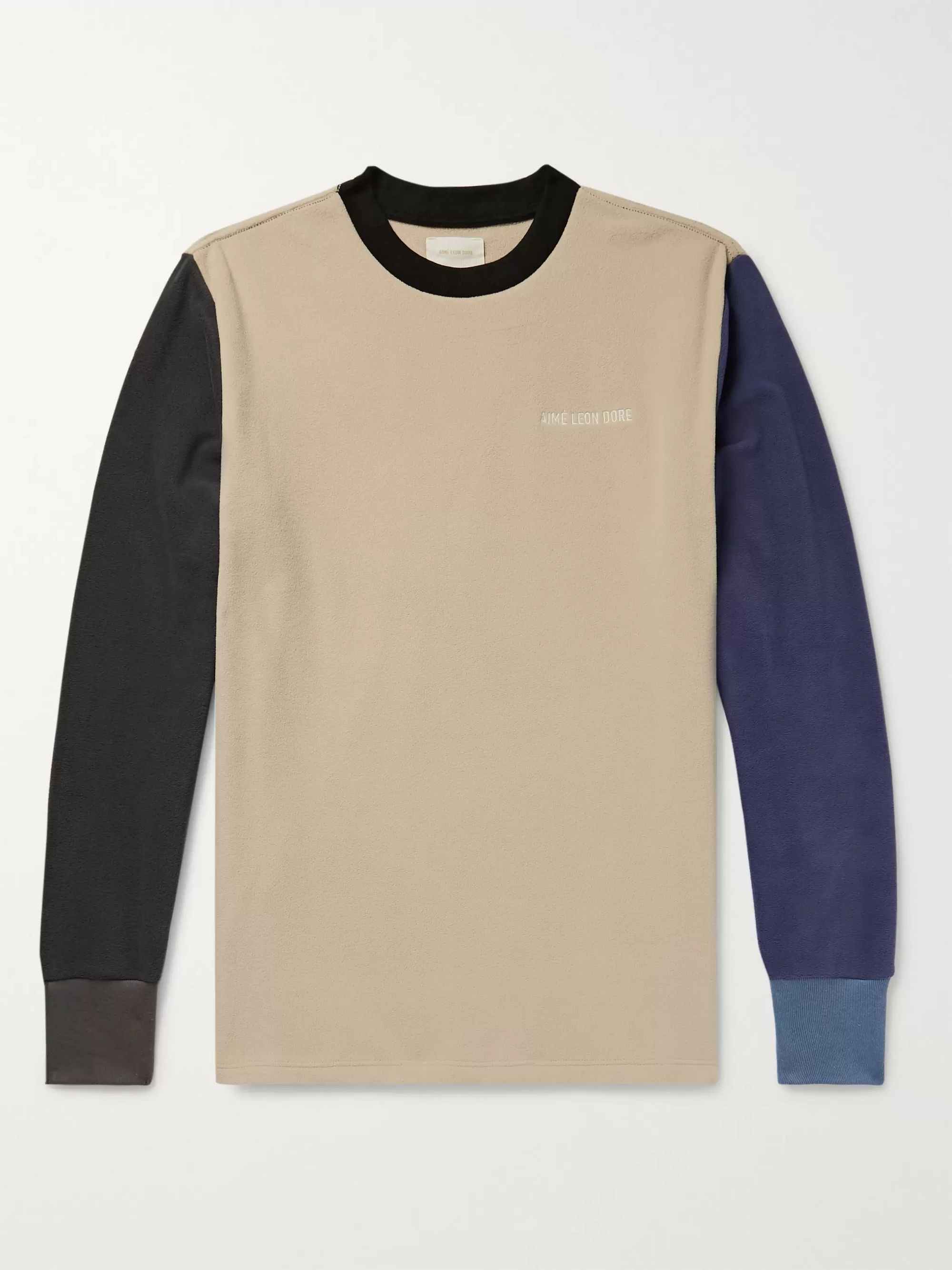 Logo Embroidered Colour Block Fleece Back Jersey Sweatshirt by Aimé Leon Dore