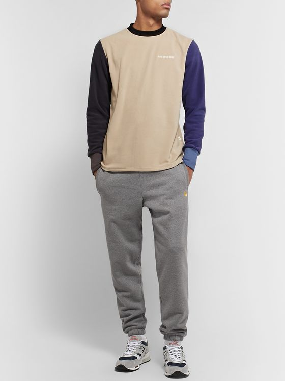 Aimé Leon Dore Logo-Embroidered Colour-Block Fleece-Back Jersey Sweatshirt