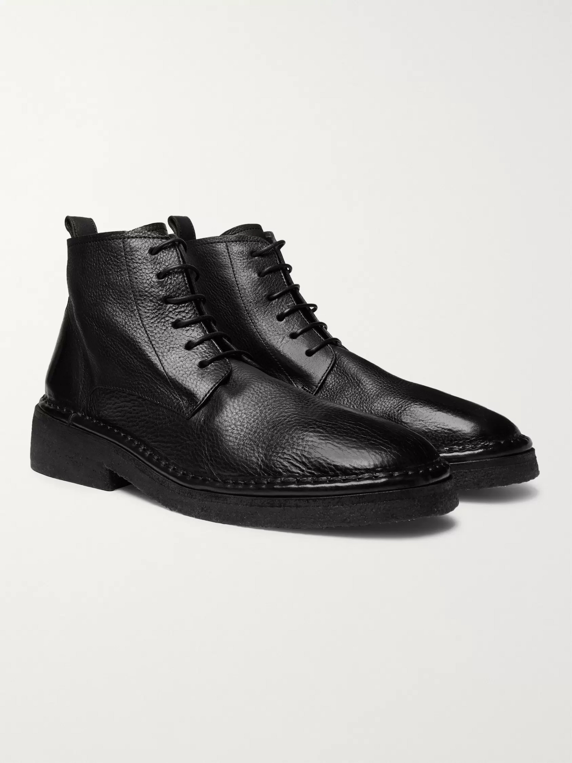 Marsell Full-Grain Leather Boots