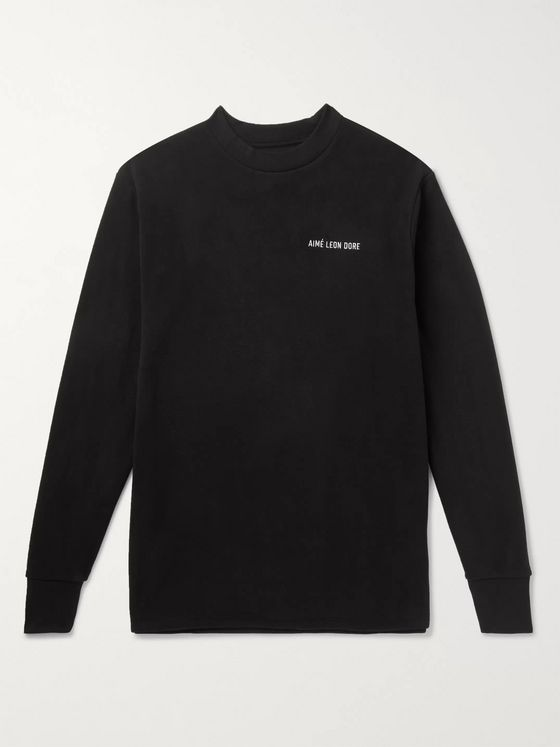 Aimé Leon Dore Logo-Embroidered Fleece T-Shirt