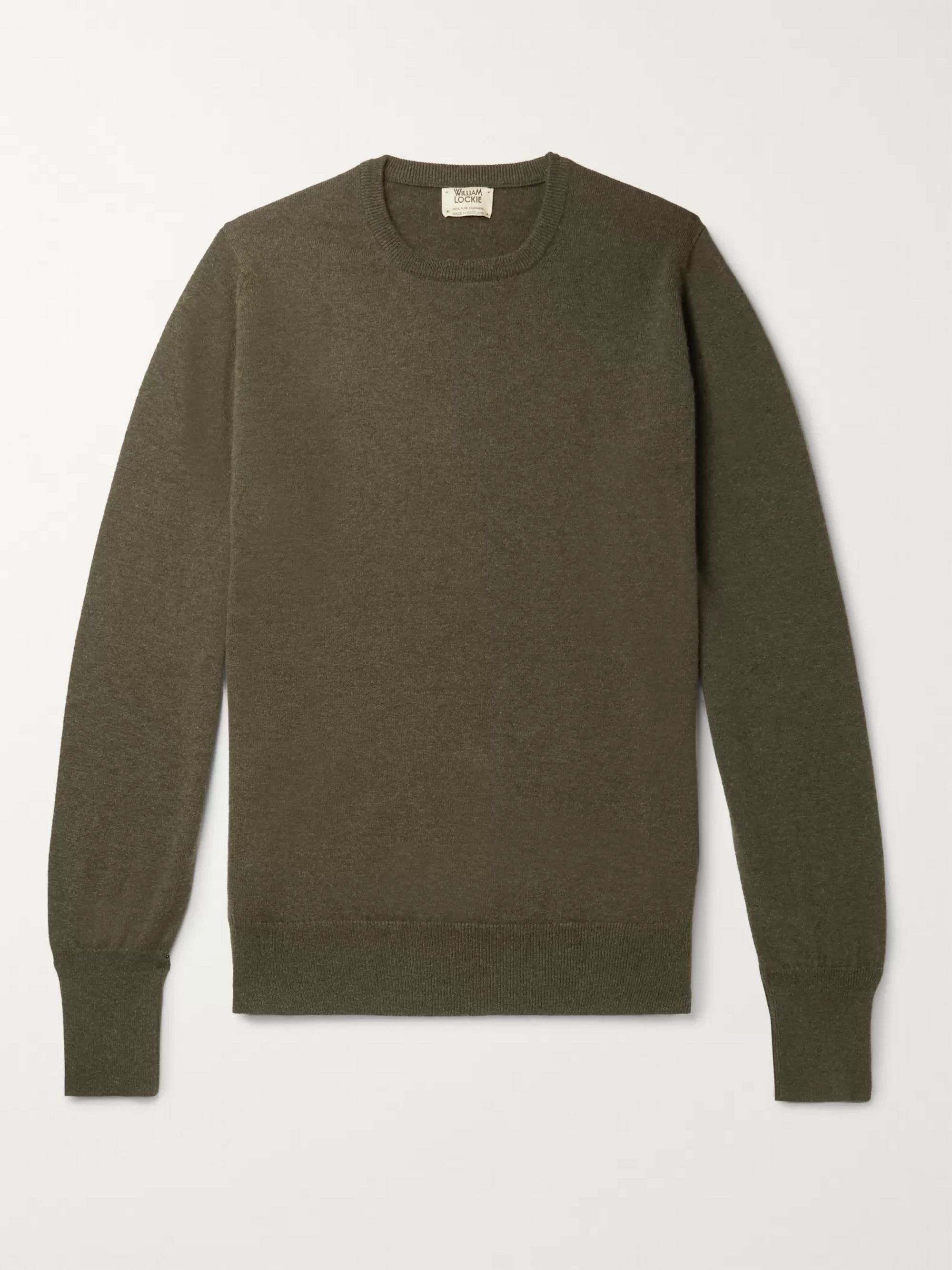 William Lockie Slim-Fit Mélange Cashmere Sweater