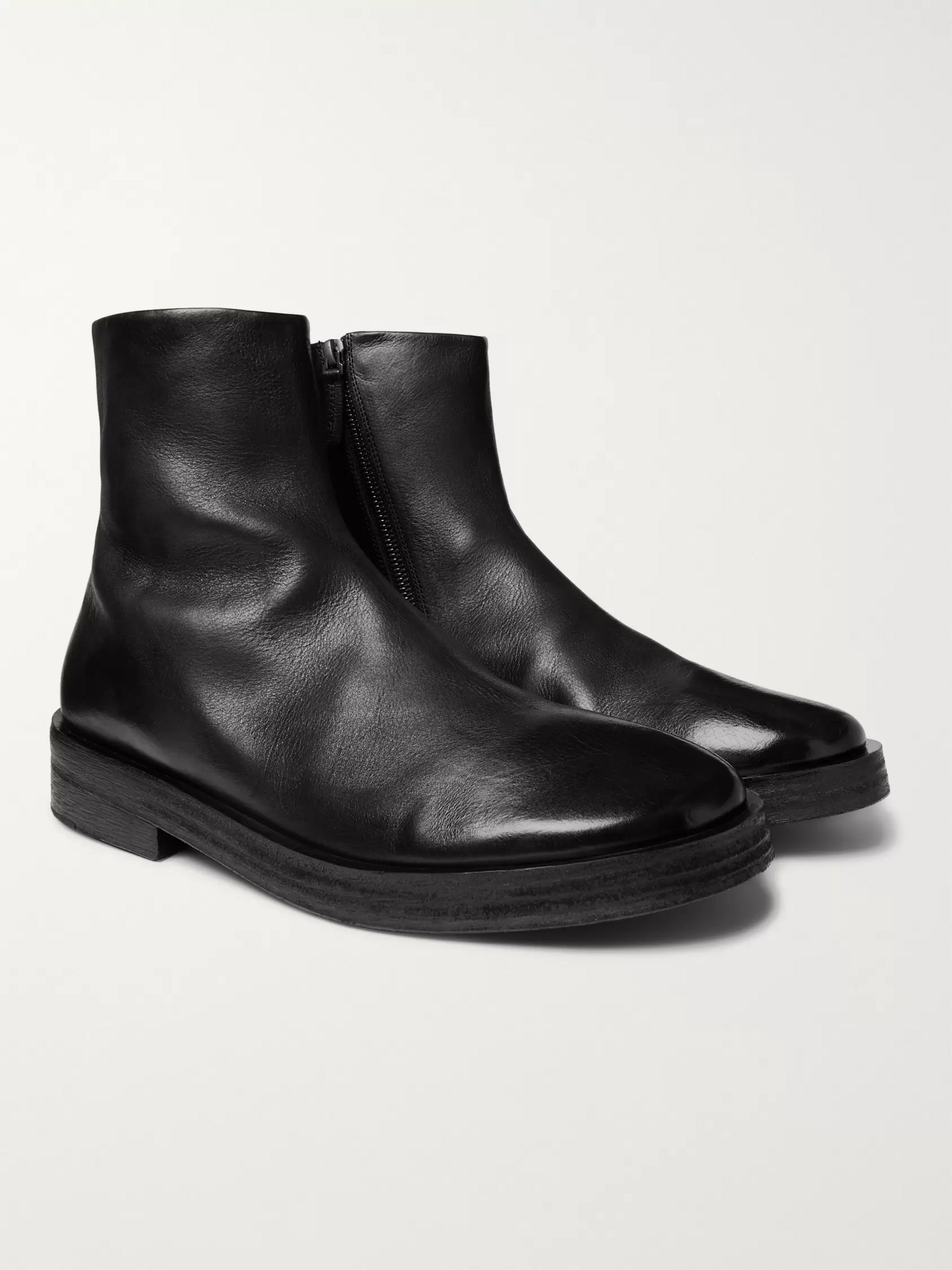 Marsell Listone Burnished-Leather Chelsea Boots