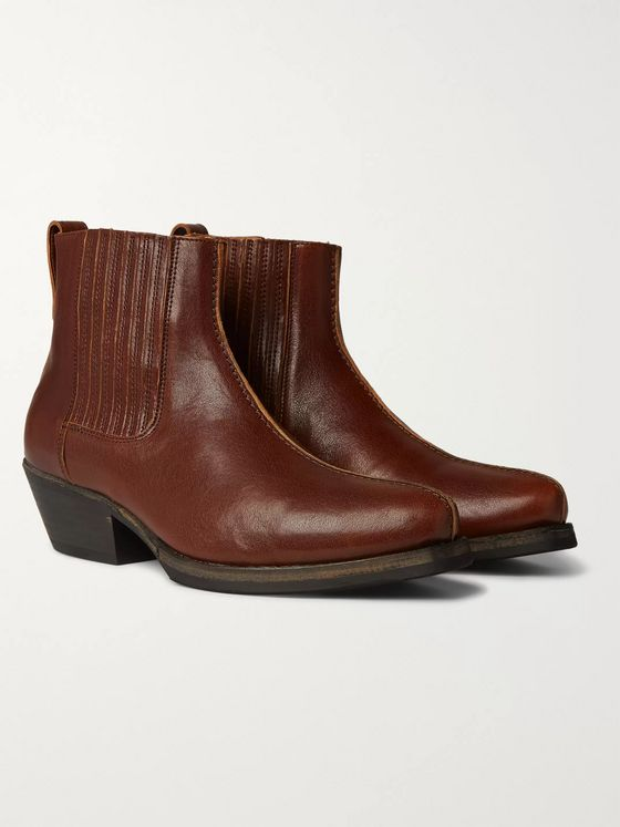 Our Legacy Center Leather Chelsea Boots