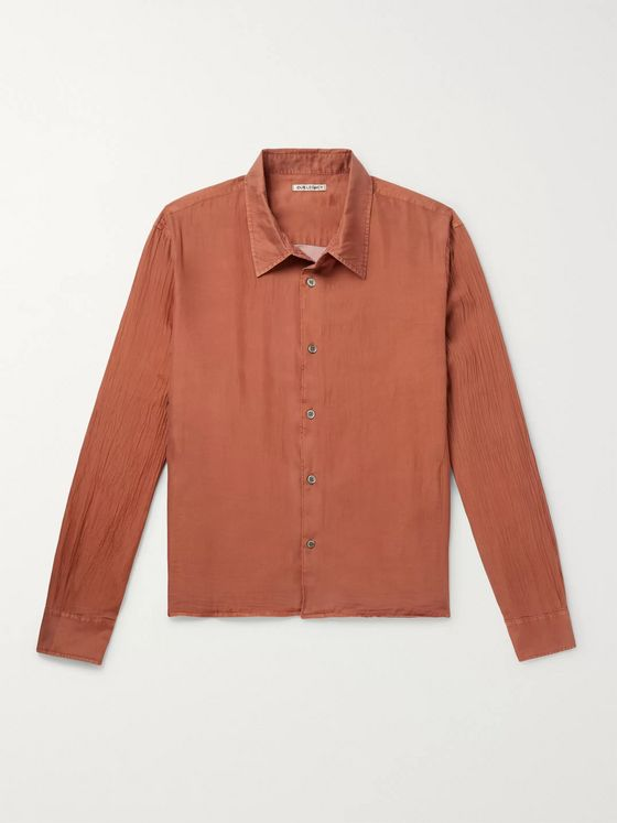 Our Legacy Company Cotton and Silk-Blend Shirt