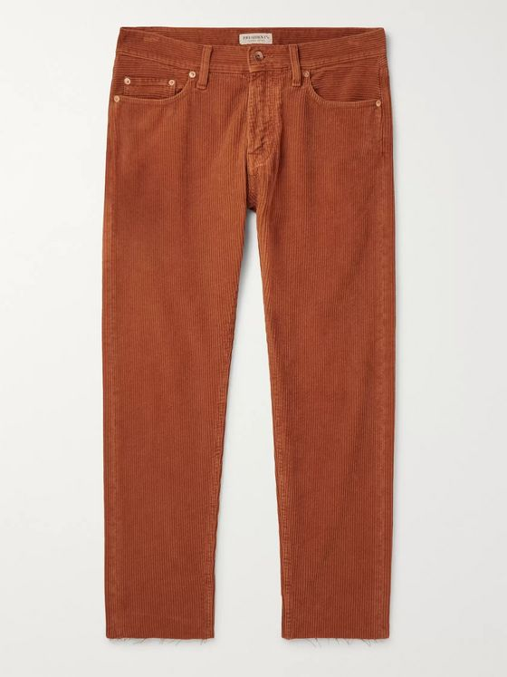 President's Icarus Slim-Fit Cotton-Corduroy Trousers