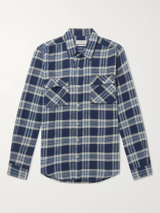 President's Checked Cotton-Flannel Shirt