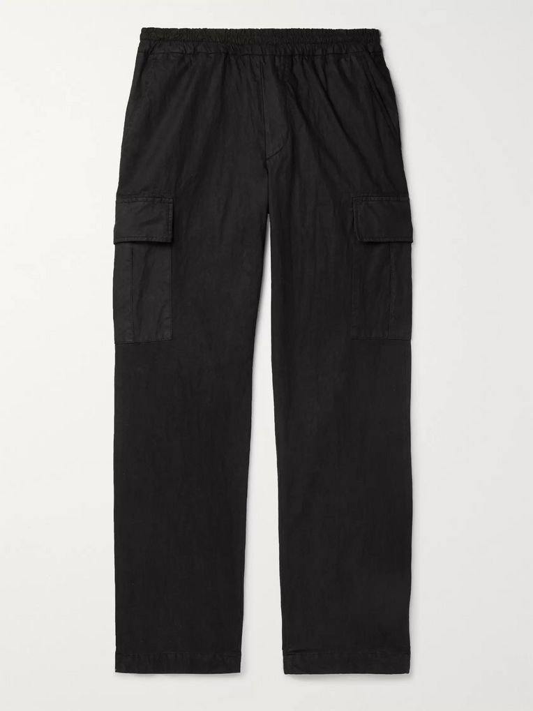 President's Tapered Garment-Dyed Cotton-Blend Gabardine Trousers