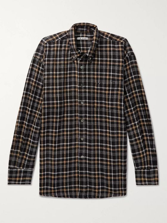Our Legacy Button-Down Collar Checked Woven Shirt