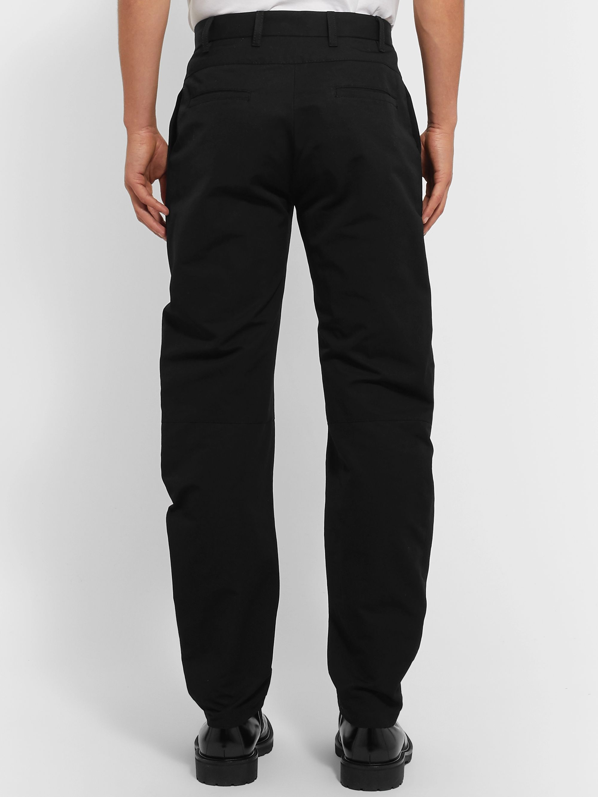 Bottega Veneta Black Tapered Cotton-Gabardine Trousers
