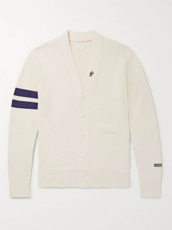 Aimé Leon Dore Striped Cotton Cardigan