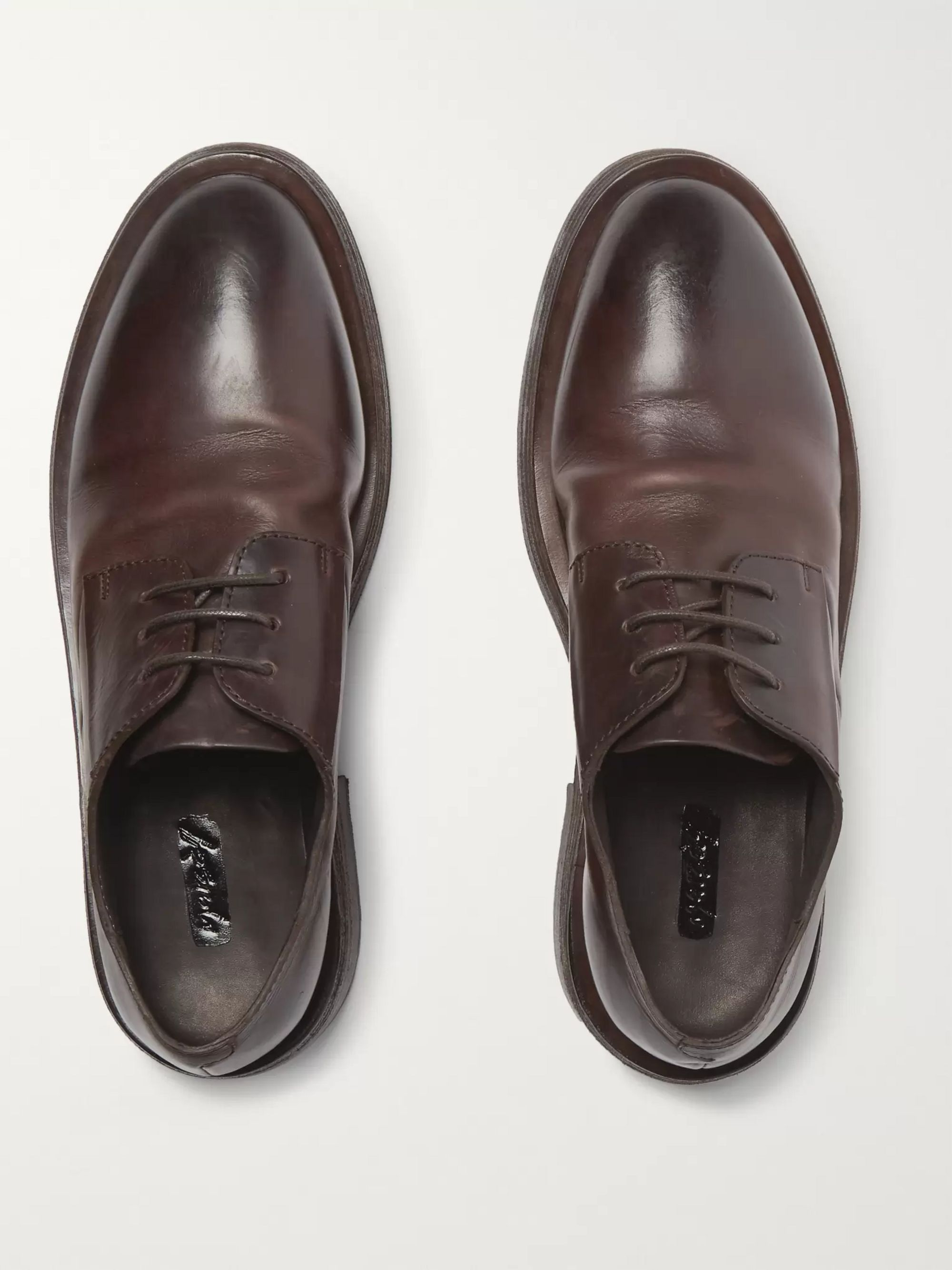 Marsell Mentone Leather Derby Shoes