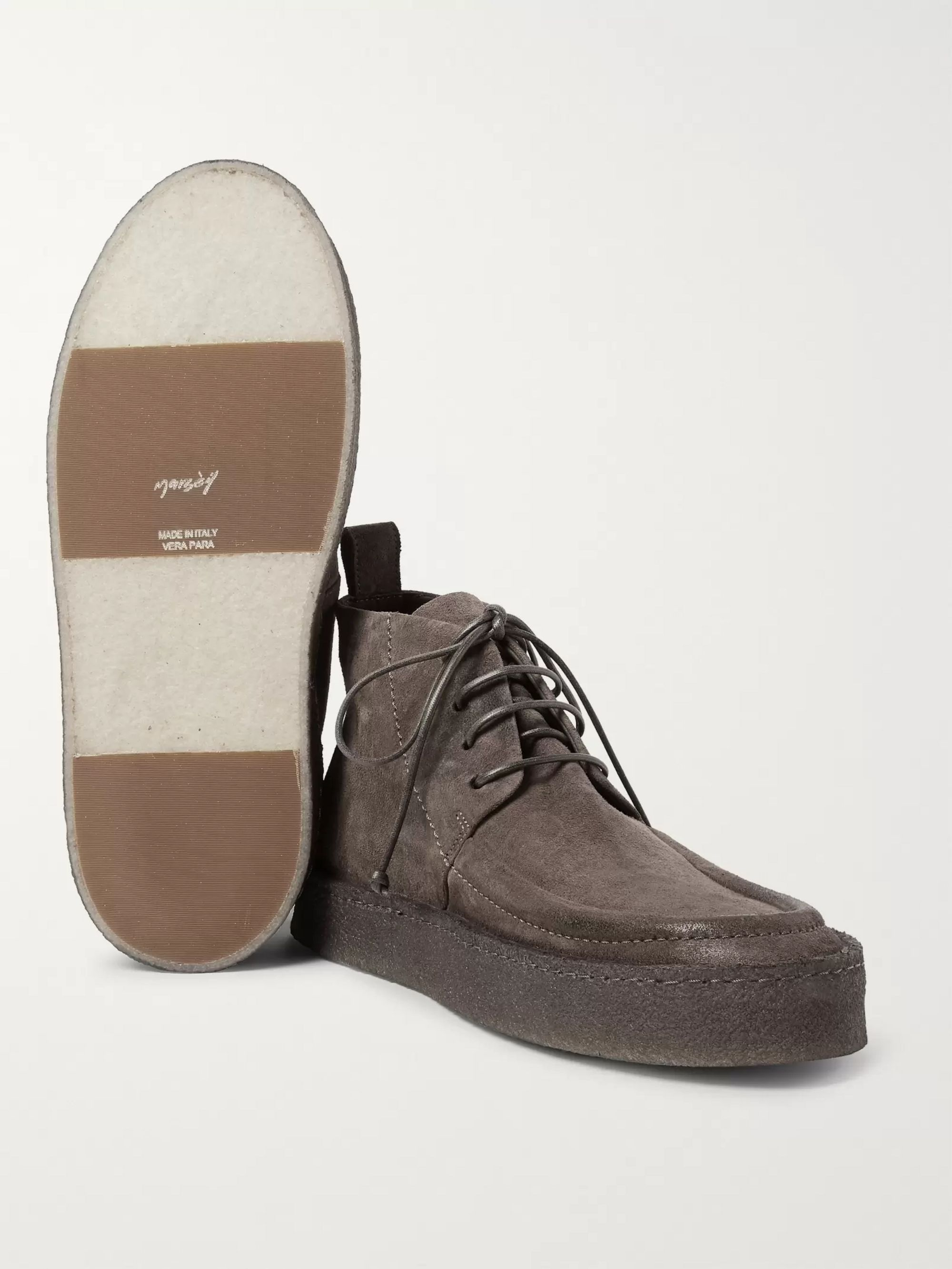 Marsell Washed-Suede Desert Boots