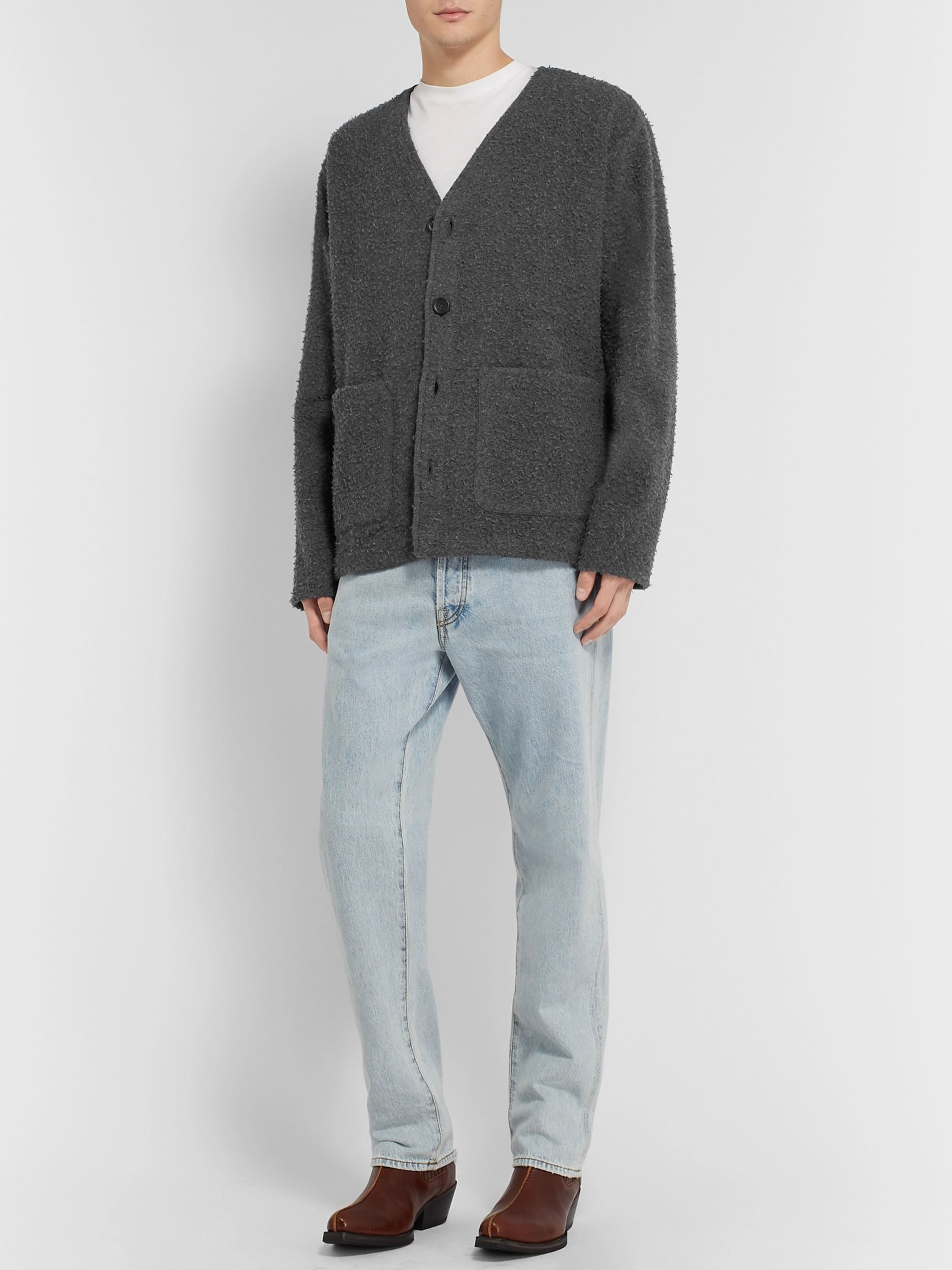 Our Legacy Textured Wool-Blend Cardigan