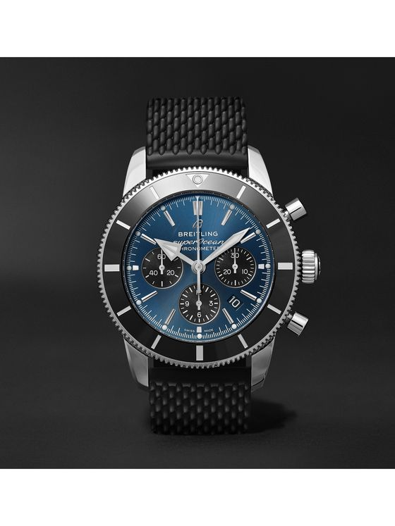 Breitling Superocean Héritage II B01 Automatic Chronometer 44mm Stainless Steel And Rubber Watch, Ref. No. AB0162121C1S1