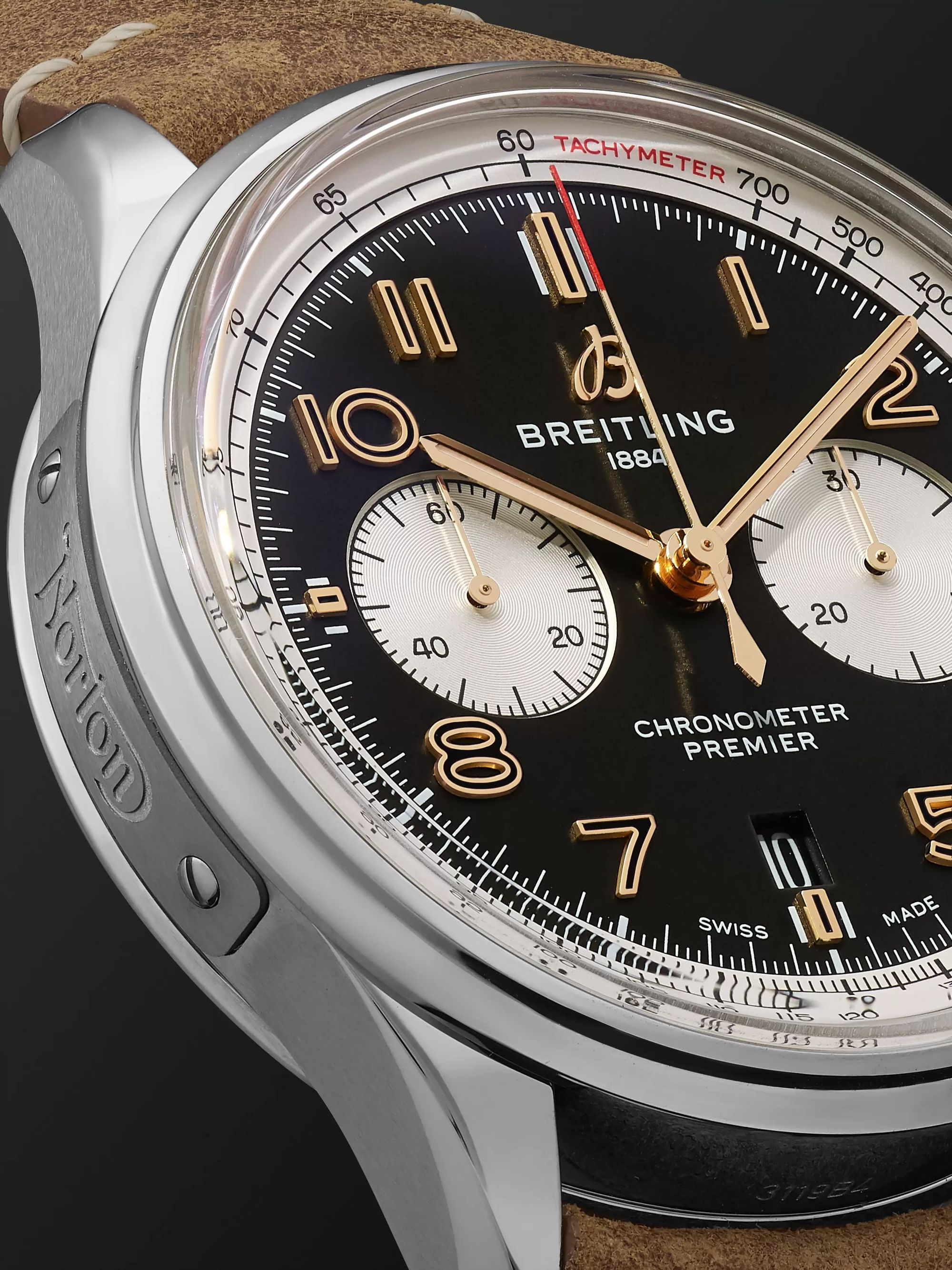 Breitling Premier B01 Norton Limited Edition Automatic Chronometer 42mm Stainless Steel and Nubuck Watch